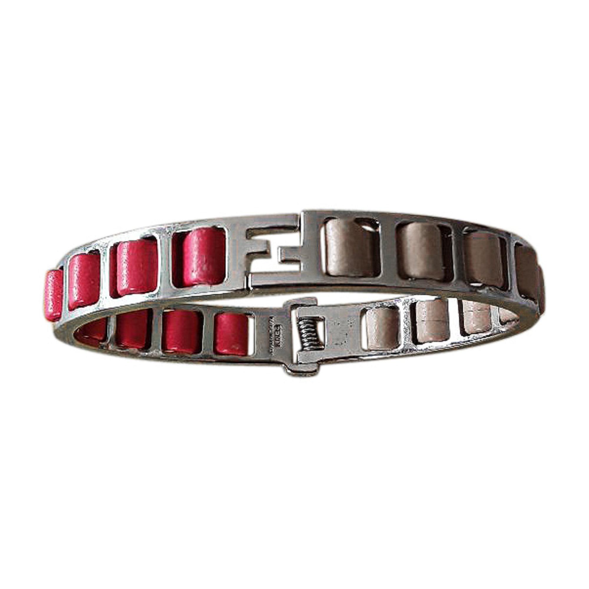 Bracelet FENDI acier rose