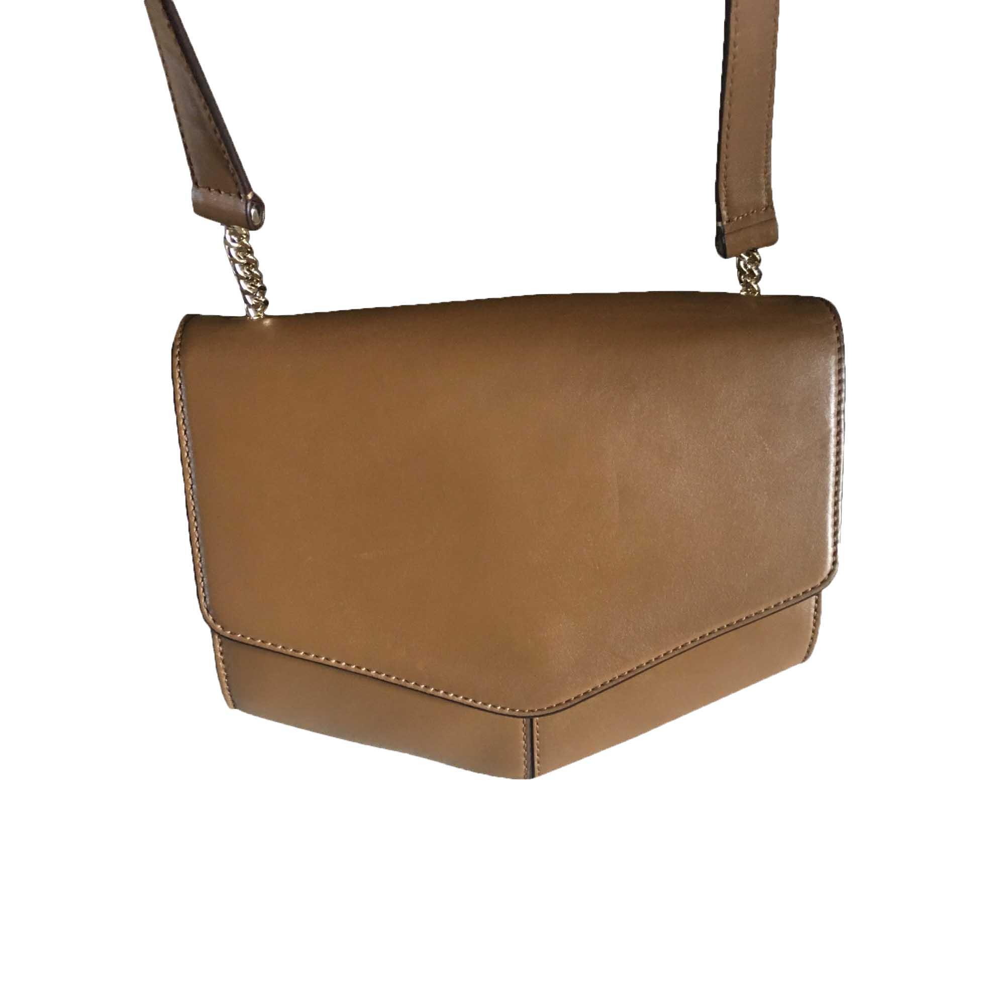 Leather Shoulder Bag SANDRO Brown