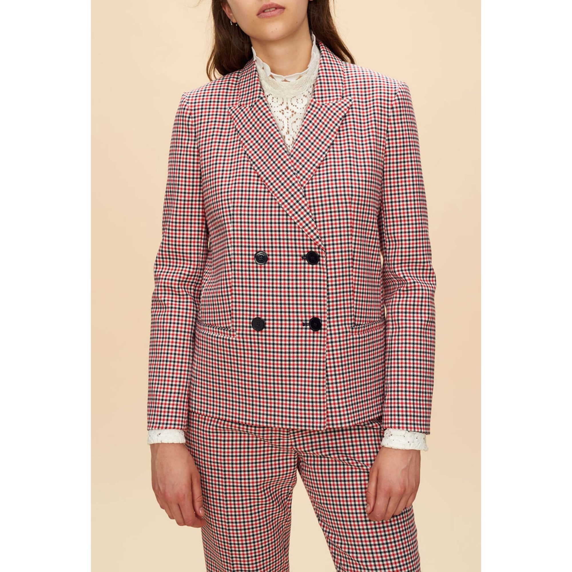 Veste CLAUDIE PIERLOT Rouge, bordeaux