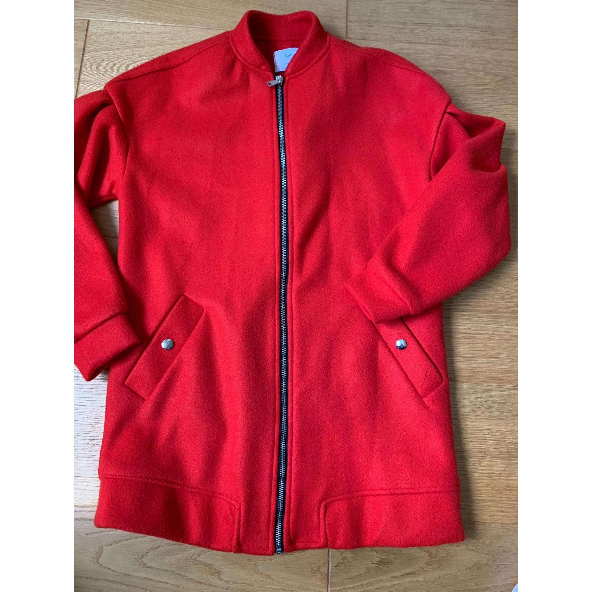 Manteau BERSHKA Rouge, bordeaux