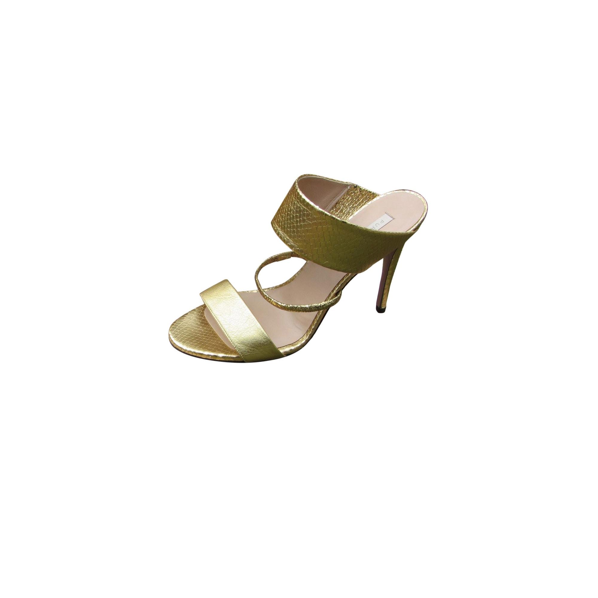 Sandales à talons PURA LOPEZ 39,5 doré 9722249