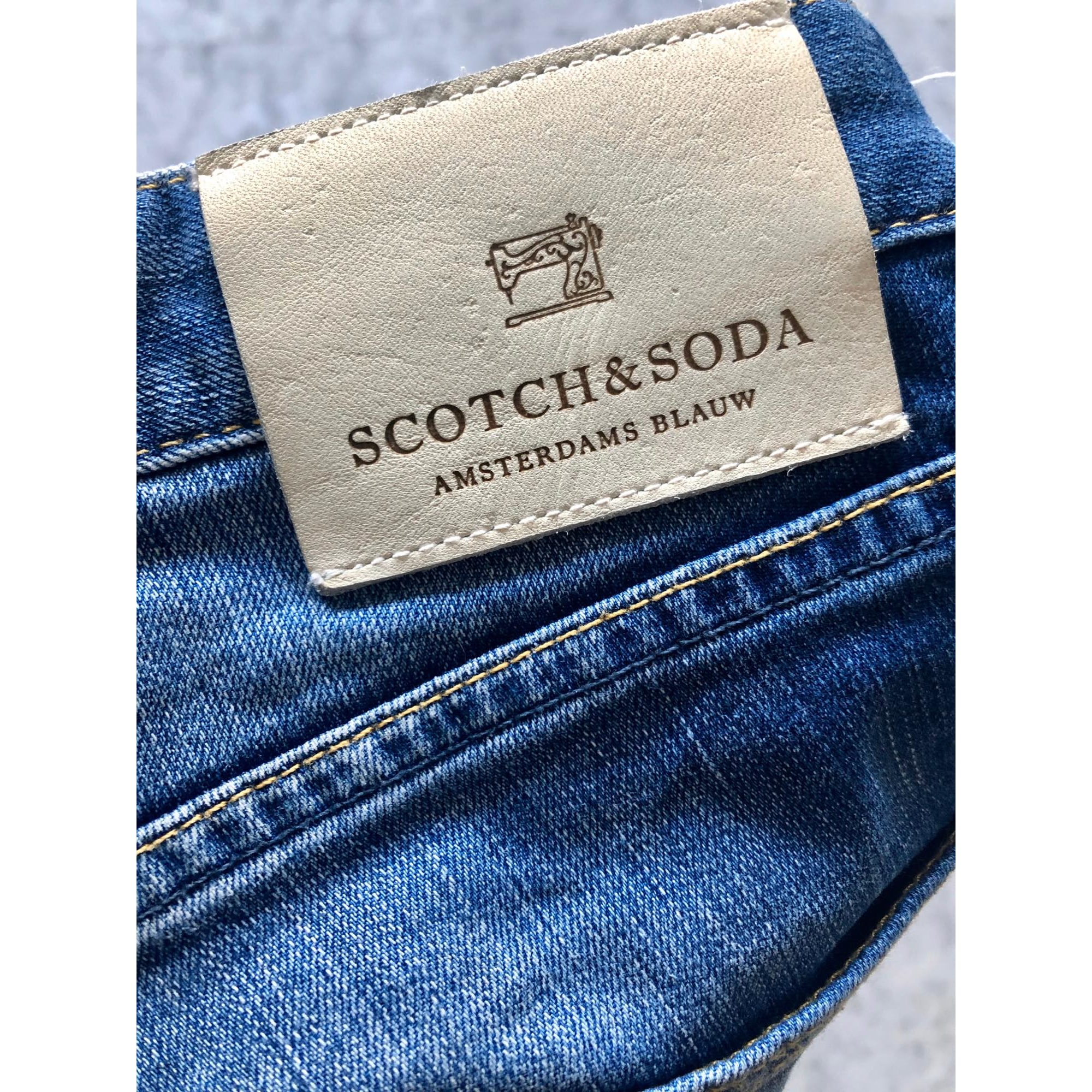 Jeans slim SCOTCH & SODA Bleu, bleu marine, bleu turquoise