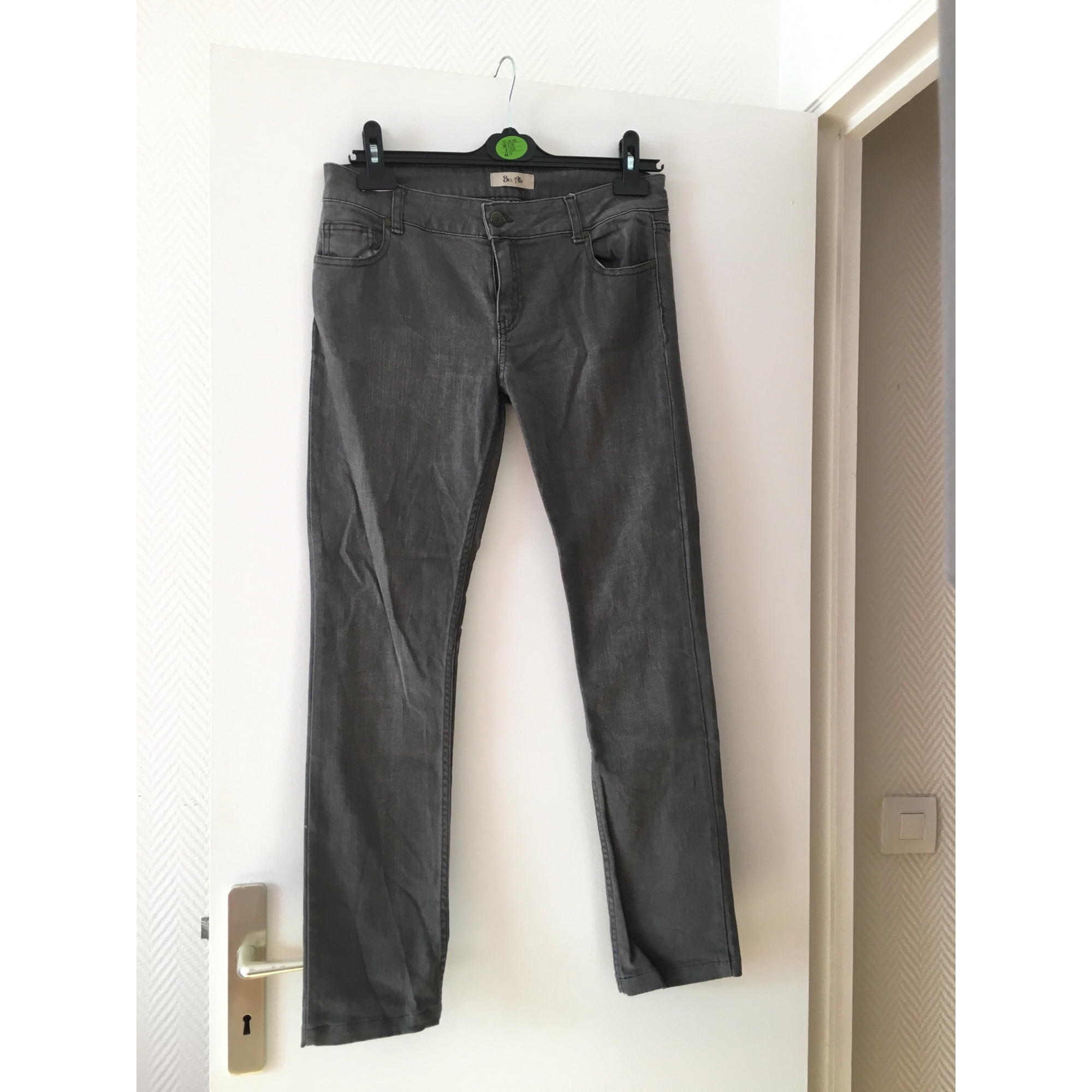 Jeans droit BEL AIR Gris, anthracite