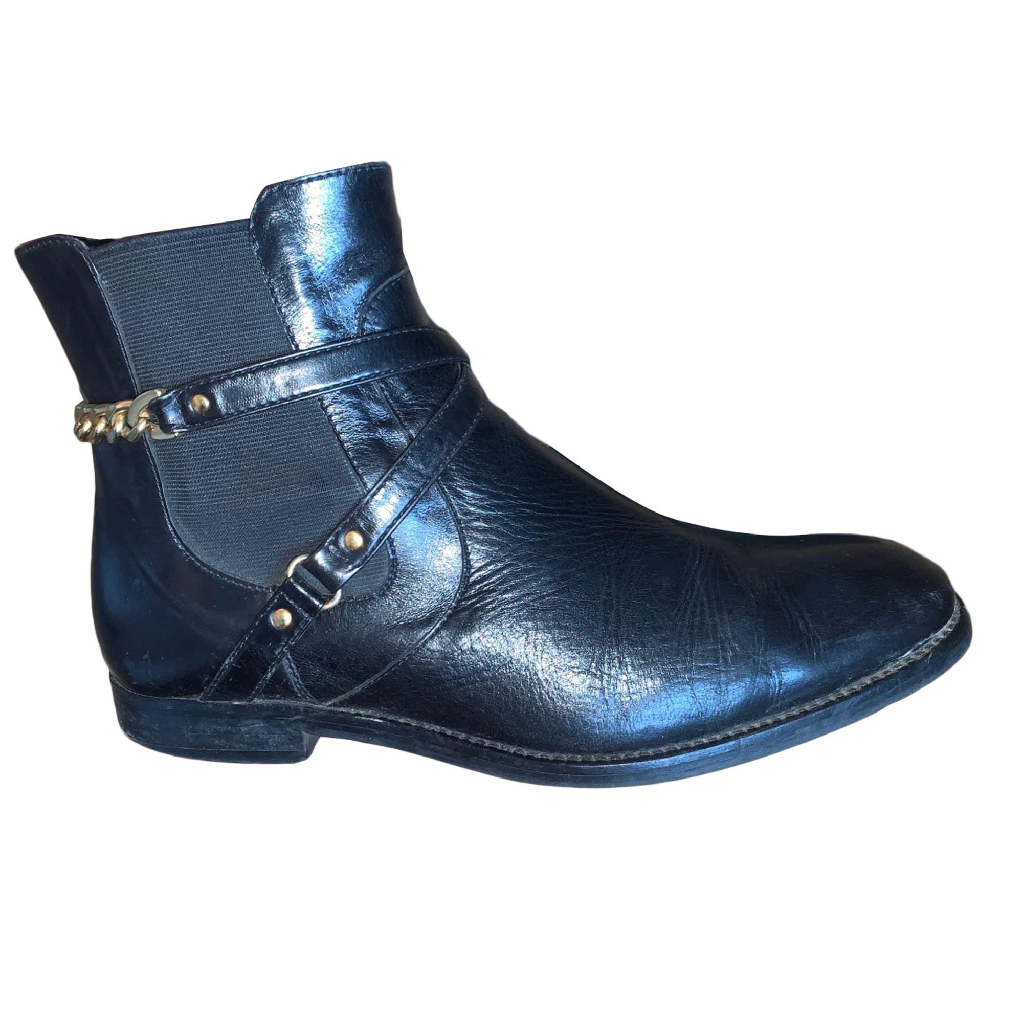 Bottines & low boots plates COSMOPARIS Noir