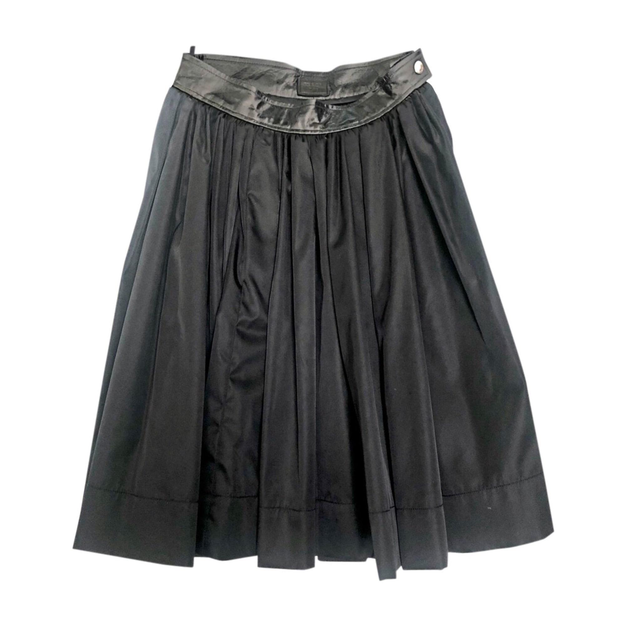 Jupe mi-longue PRADA Noir
