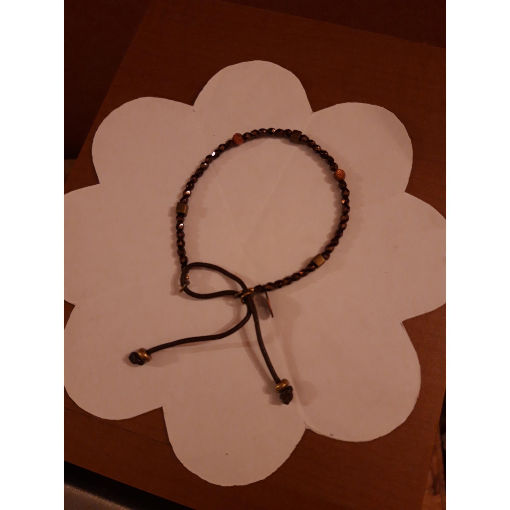 Bracelet CATHERINE MICHIELS céramique marron