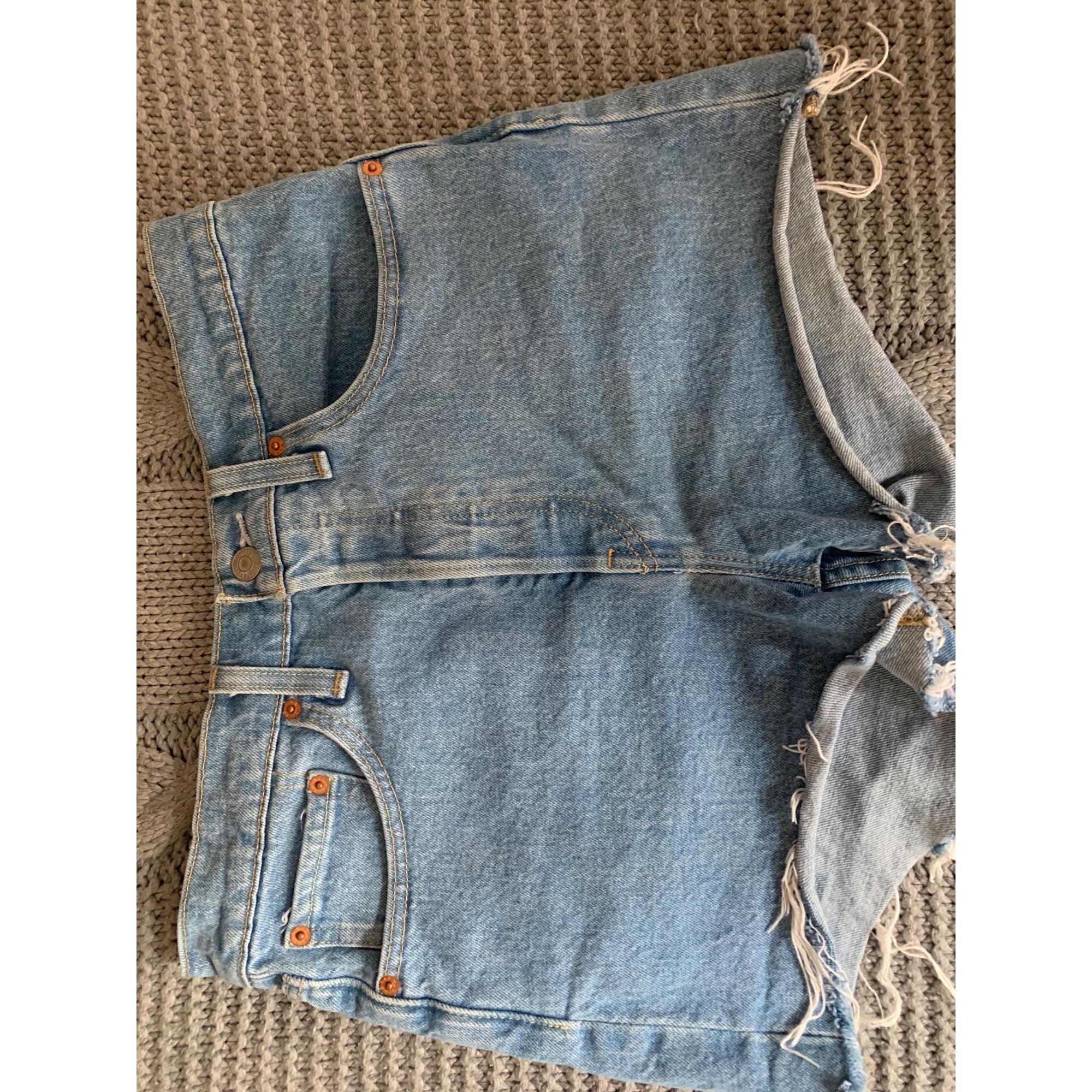 Short en jean LEVI'S Bleu, bleu marine, bleu turquoise