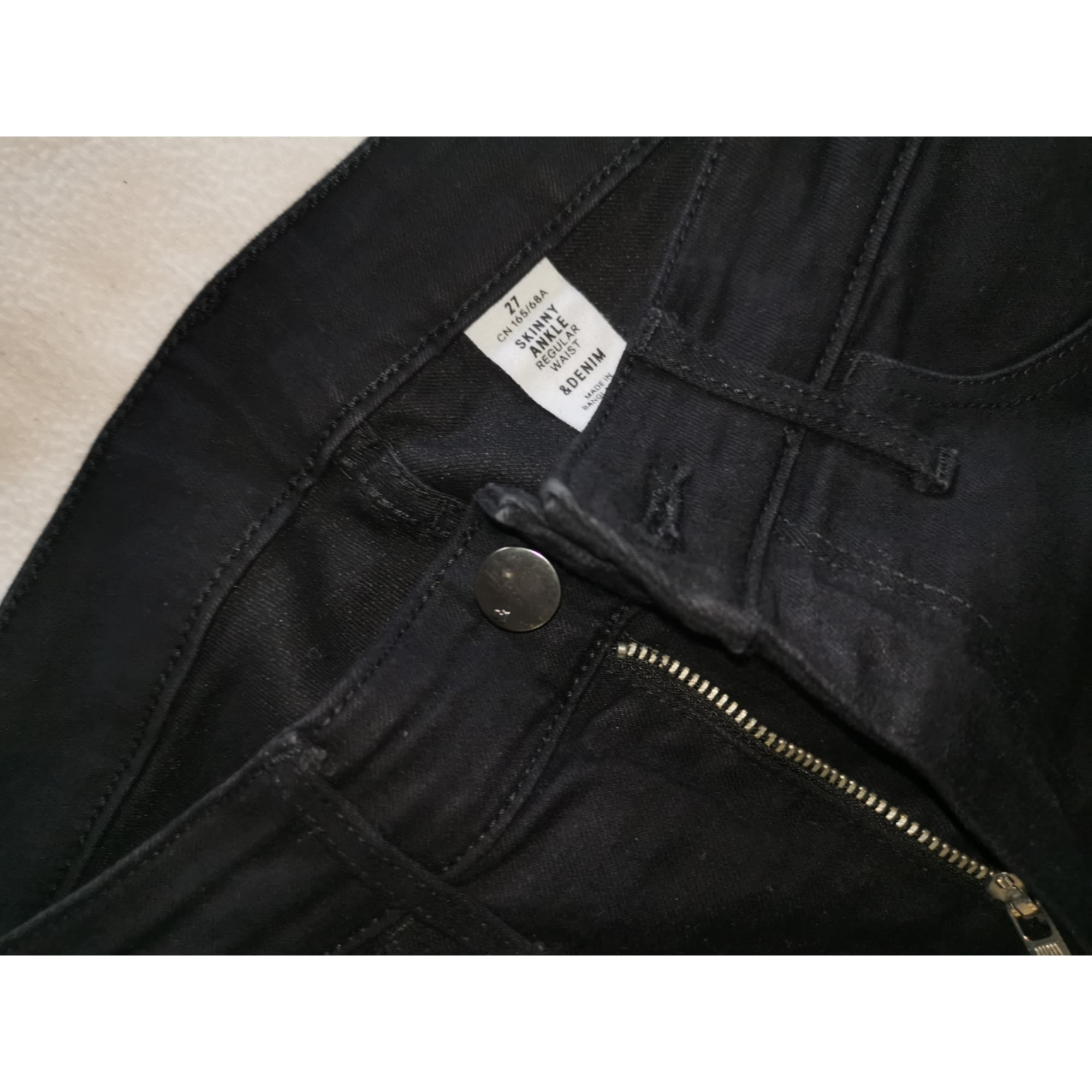Pantalon slim, cigarette BERSHKA Noir