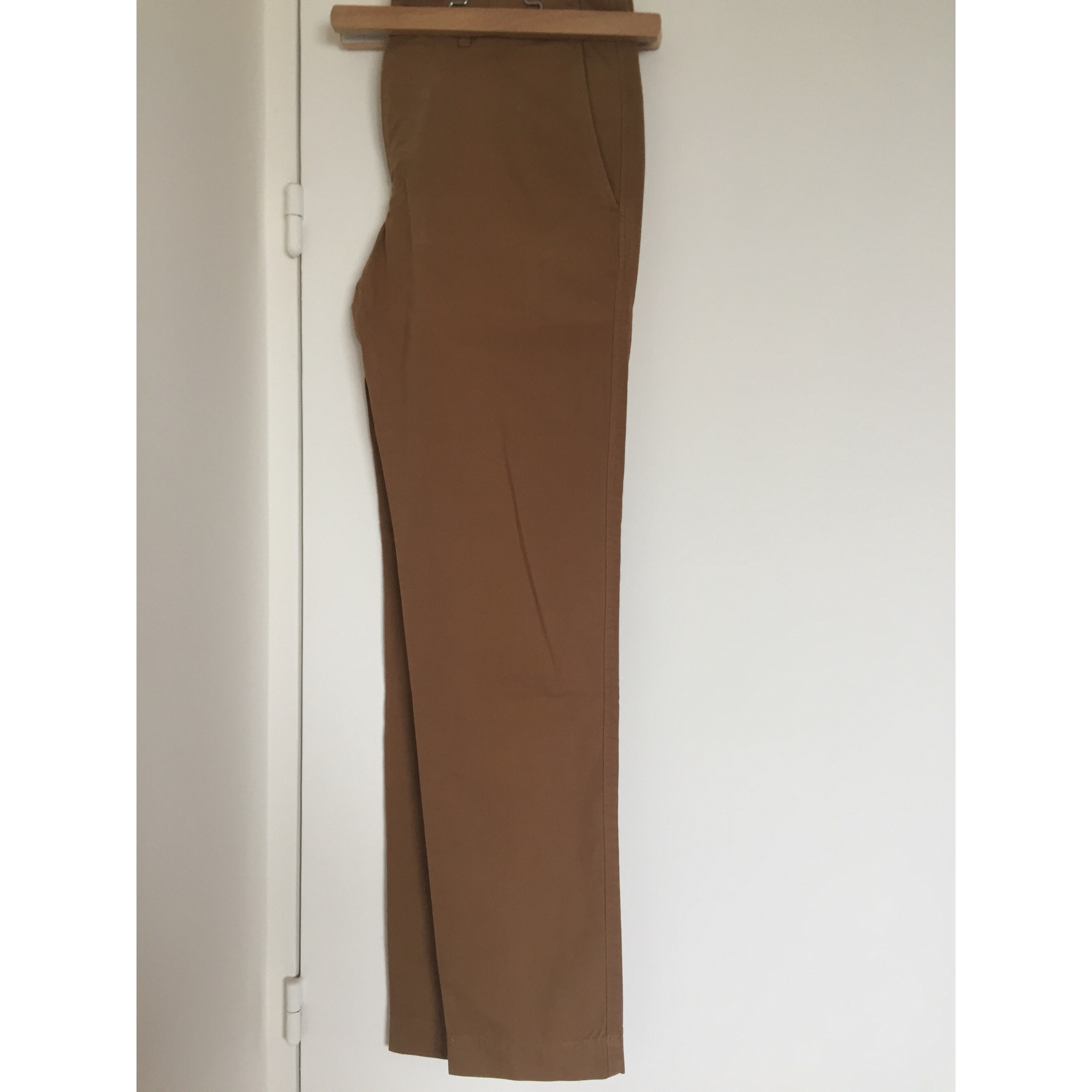 Pantalon droit LACOSTE Marron