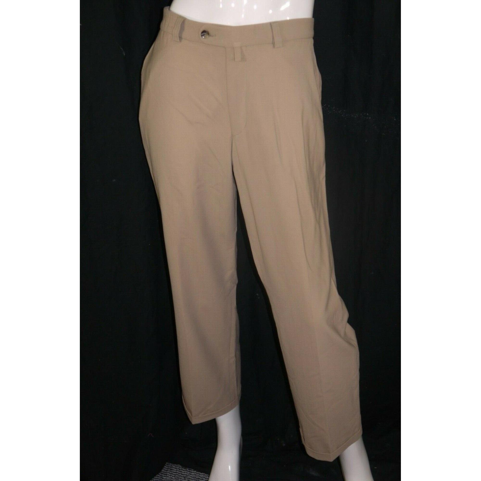 Pantalon droit BRUNO SAINT HILAIRE Beige, camel