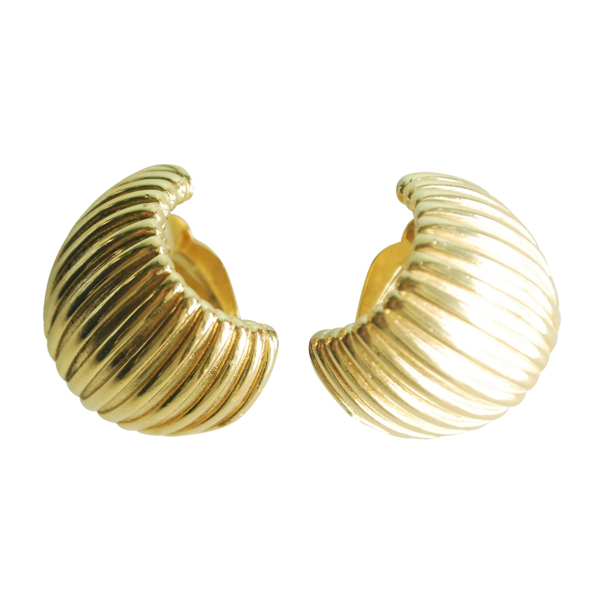 Boucles d'oreille GIVENCHY métal doré