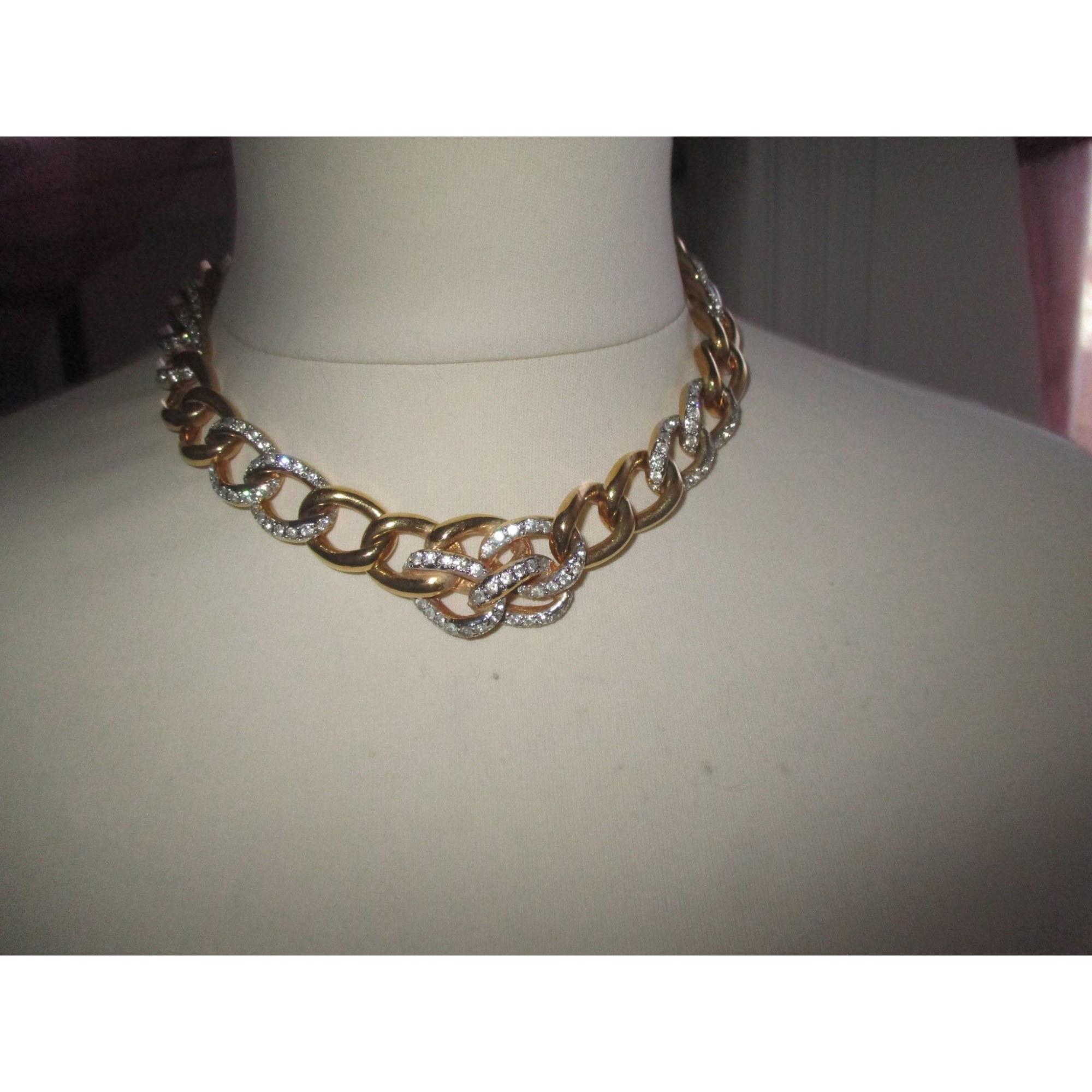Collier VALENTINO métal doré et zircons autre