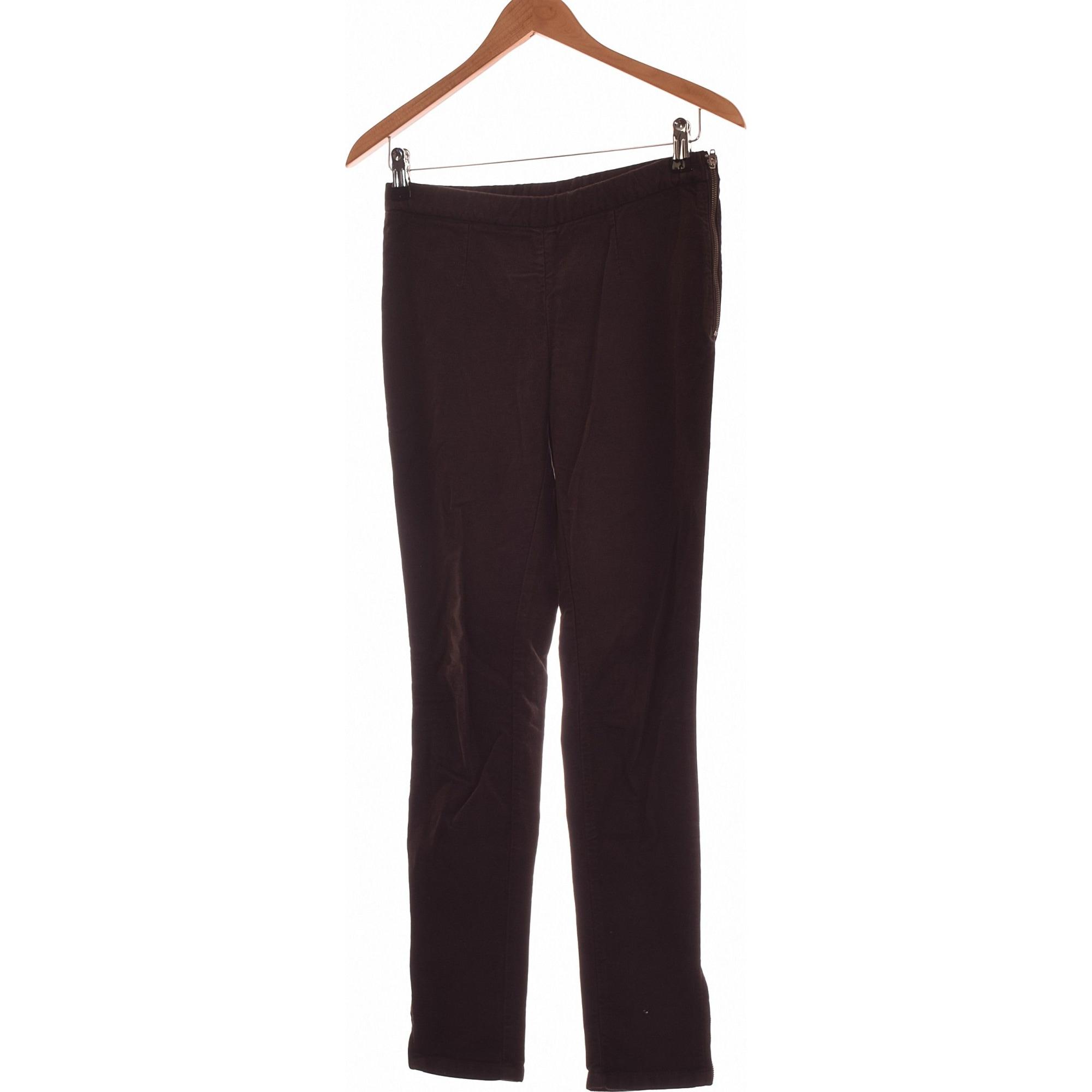 Pantalon slim, cigarette AMERICAN VINTAGE Noir