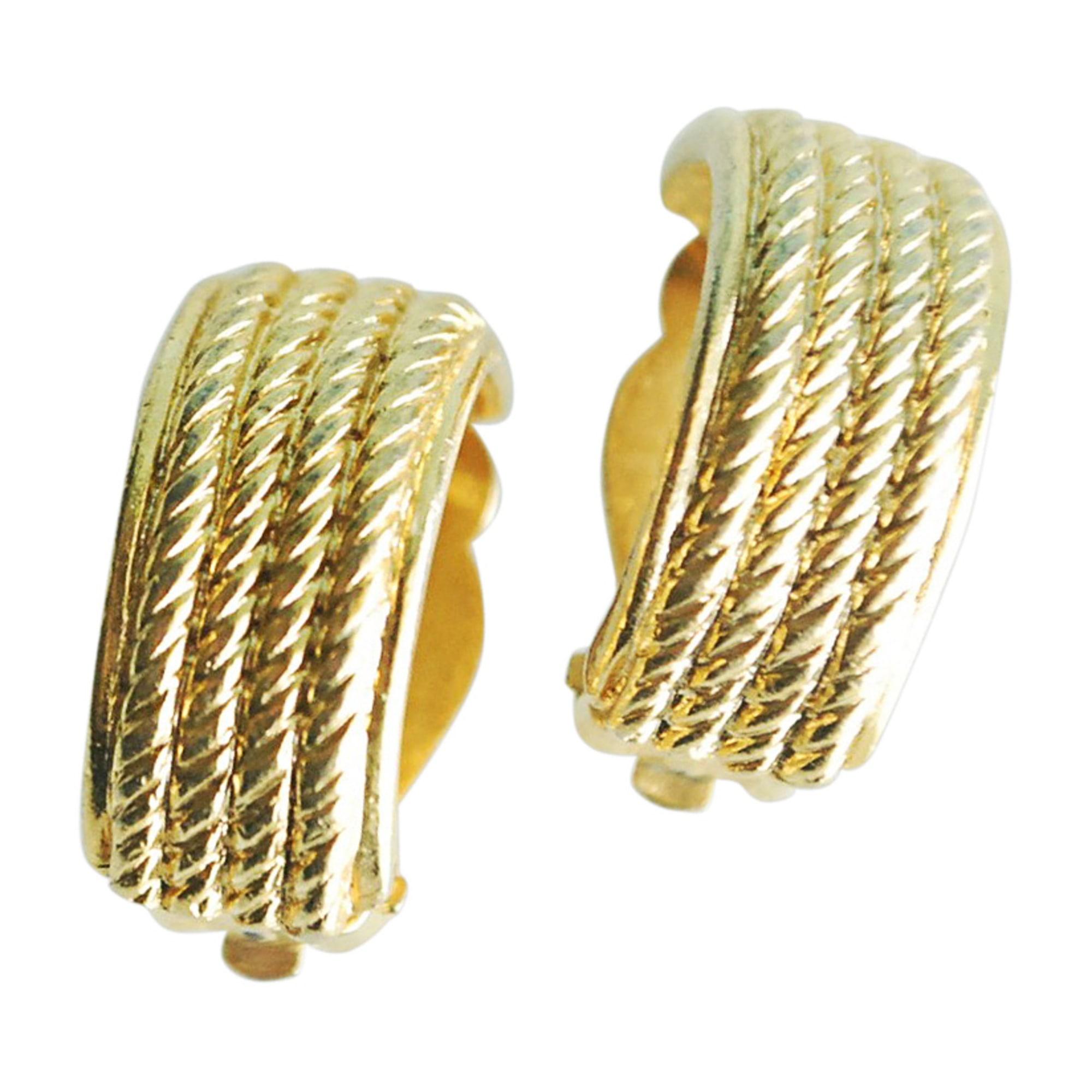 Boucles d'oreille GIVENCHY Doré, bronze, cuivre