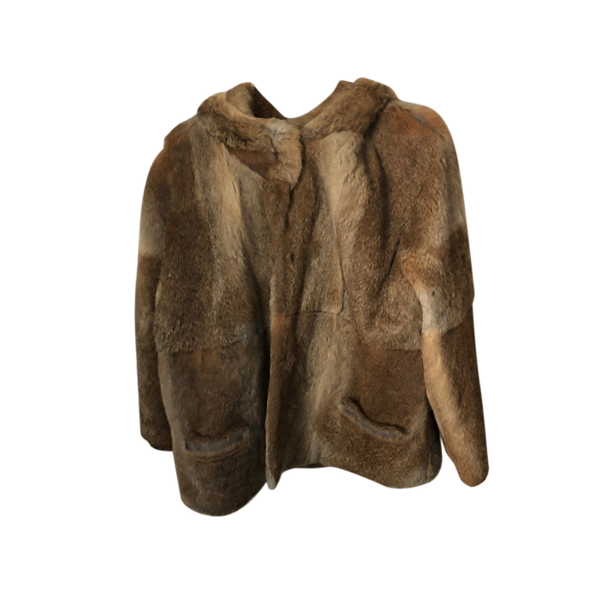 Blouson, veste en fourrure BA&SH Beige, camel