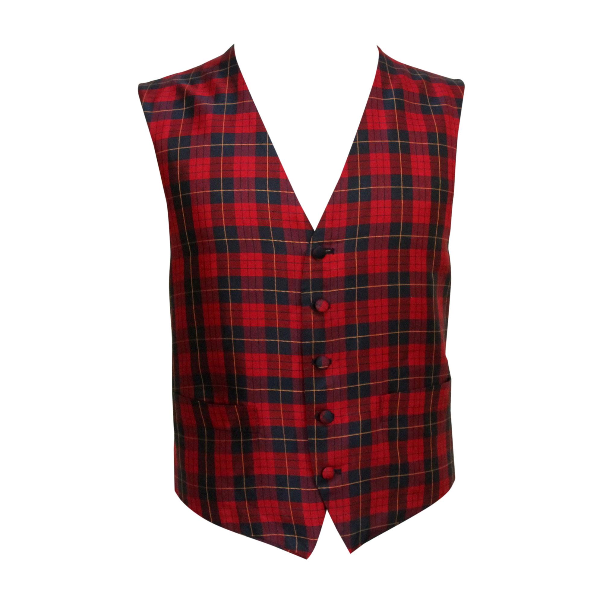 Gilet de costume YVES SAINT LAURENT Rouge, bordeaux