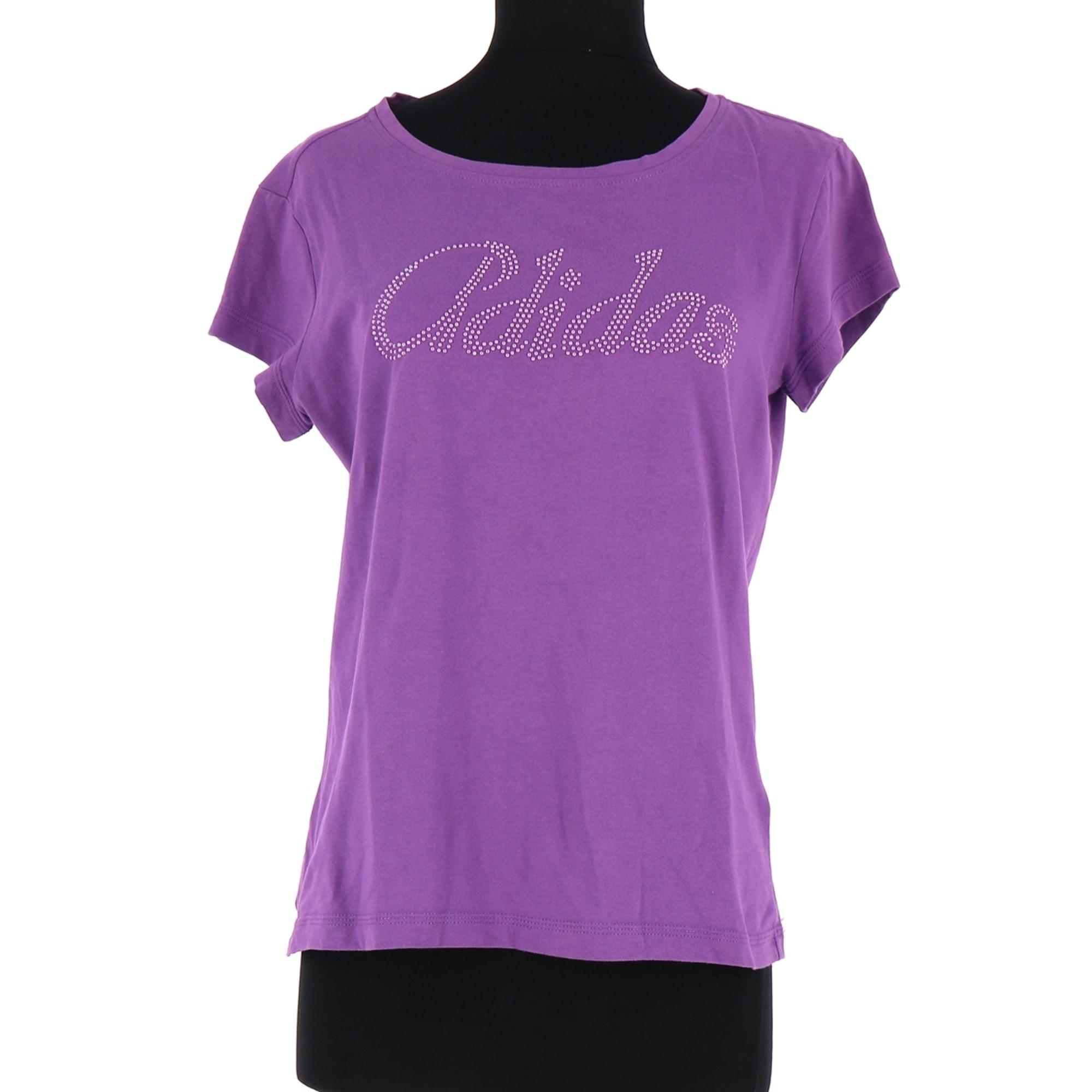 Top, T-shirt ADIDAS Purple, mauve, lavender