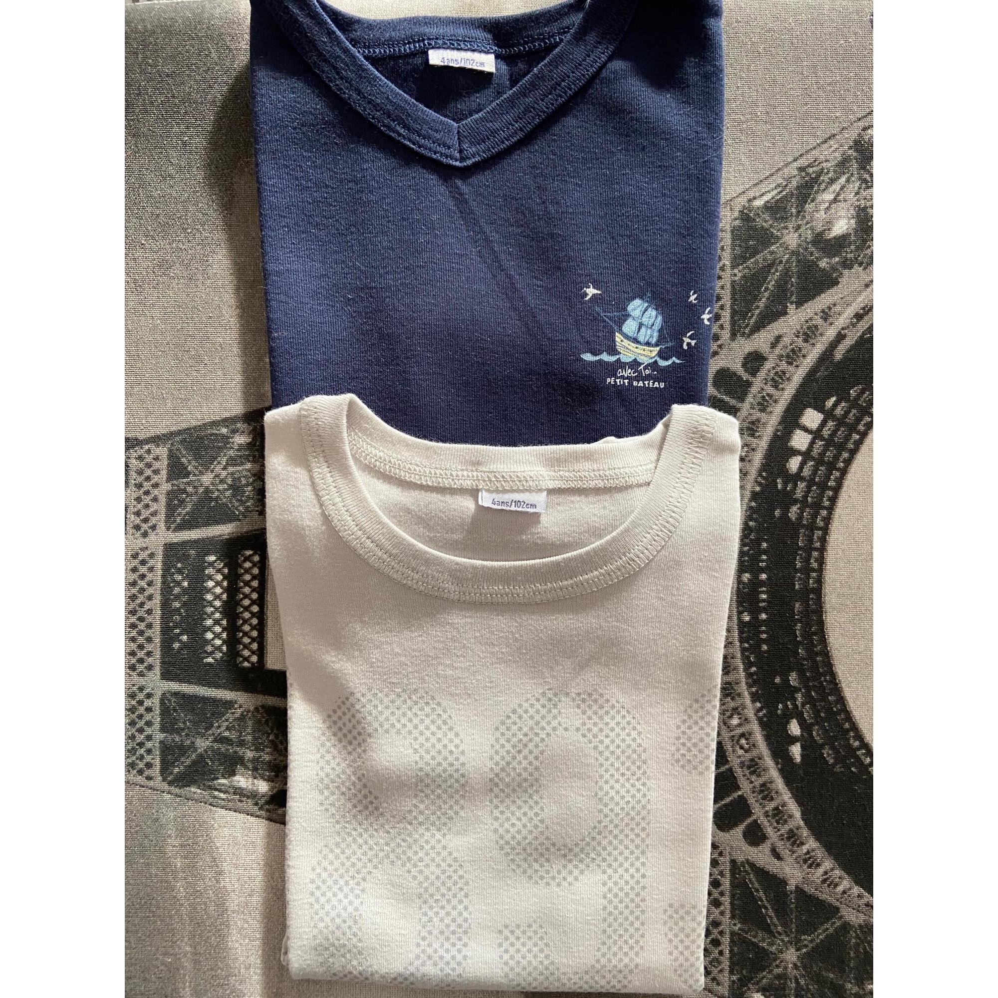 Tee-shirt PETIT BATEAU Bleu, bleu marine, bleu turquoise