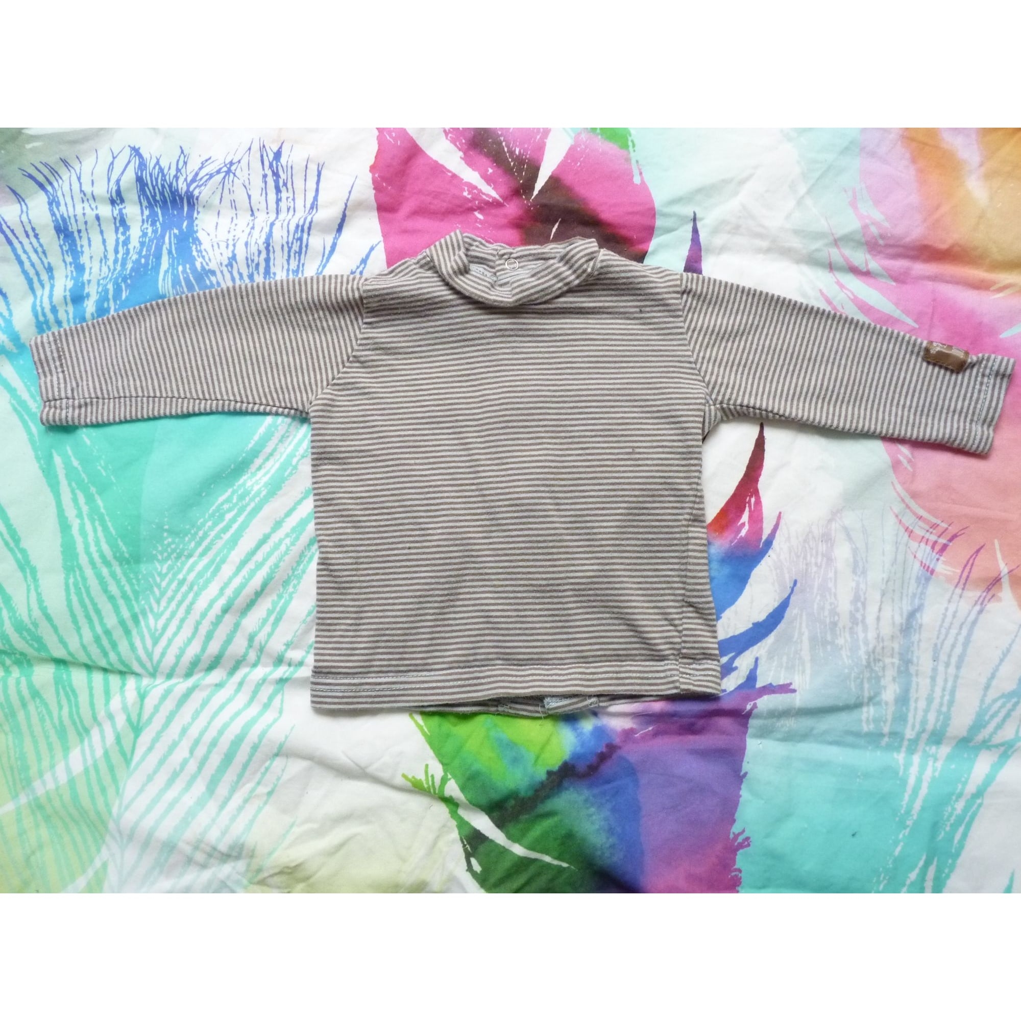 Top, tee shirt GRAIN DE BLÉ Beige, camel