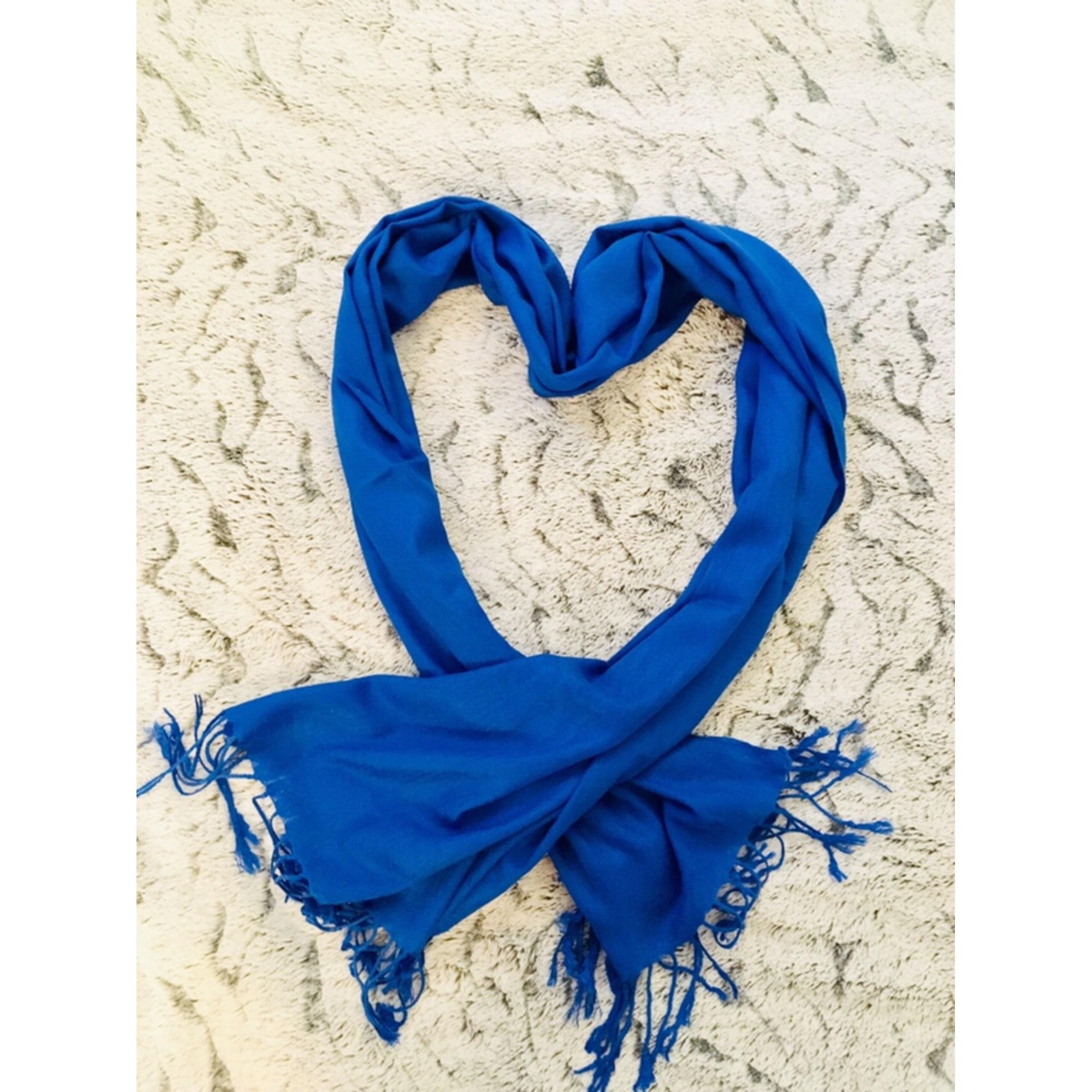 Etole PASHMINA Bleu, bleu marine, bleu turquoise