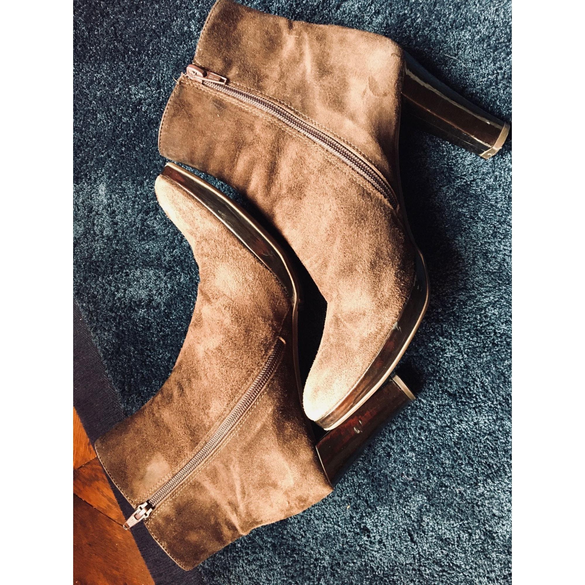 Bottines & low boots à talons CAREL Marron