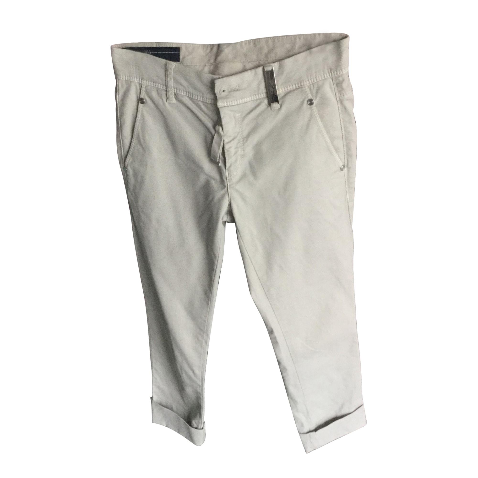 Pantalon slim, cigarette HIGH Blanc, blanc cassé, écru