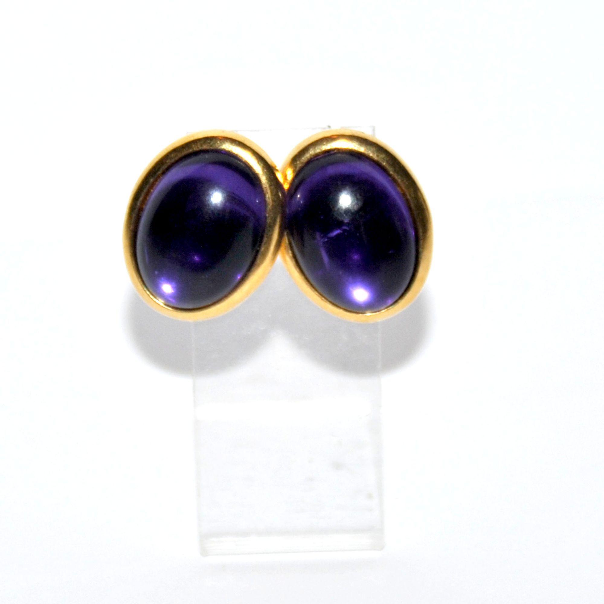 Boucles d'oreille TRIFARI Violet, mauve, lavande