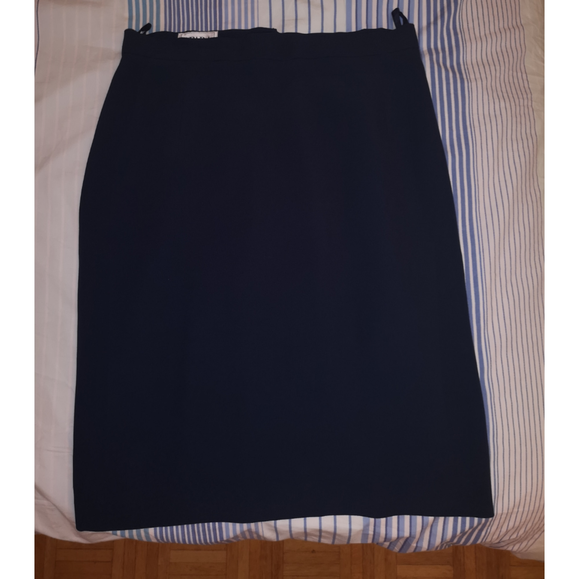 Jupe mi-longue APARA Bleu, bleu marine, bleu turquoise