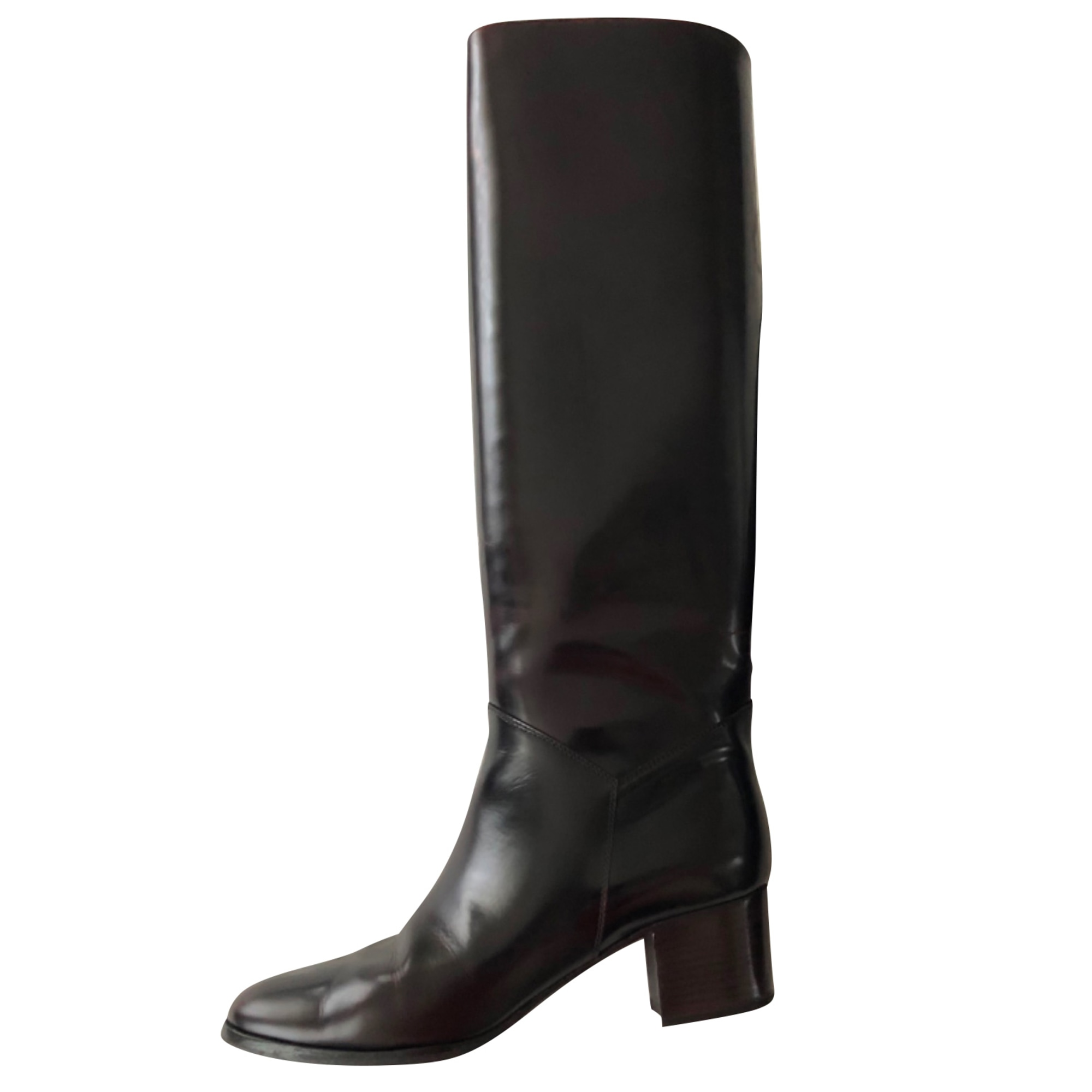 High Heel Boots CHANEL Brown
