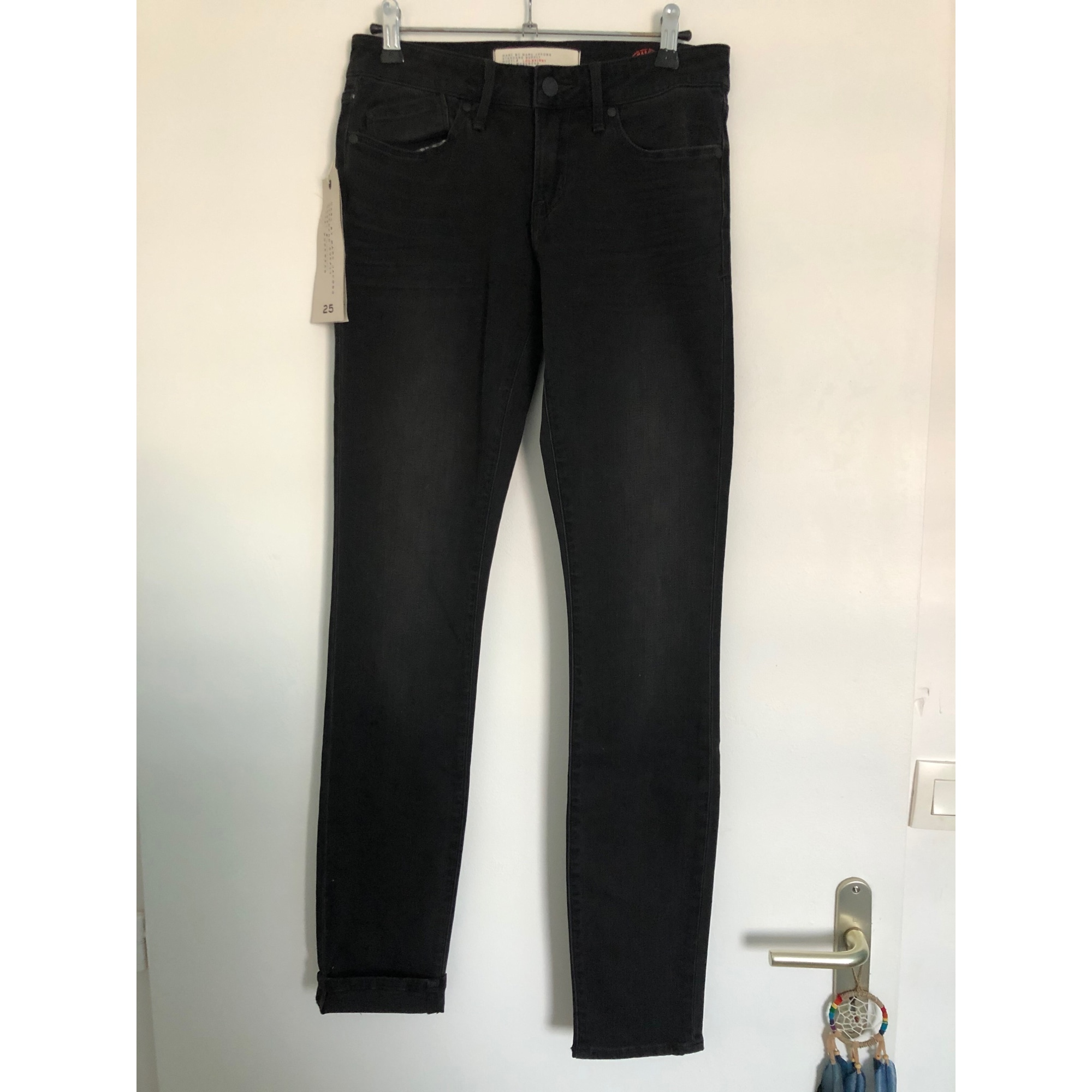 Jeans slim MARC JACOBS Gris, anthracite