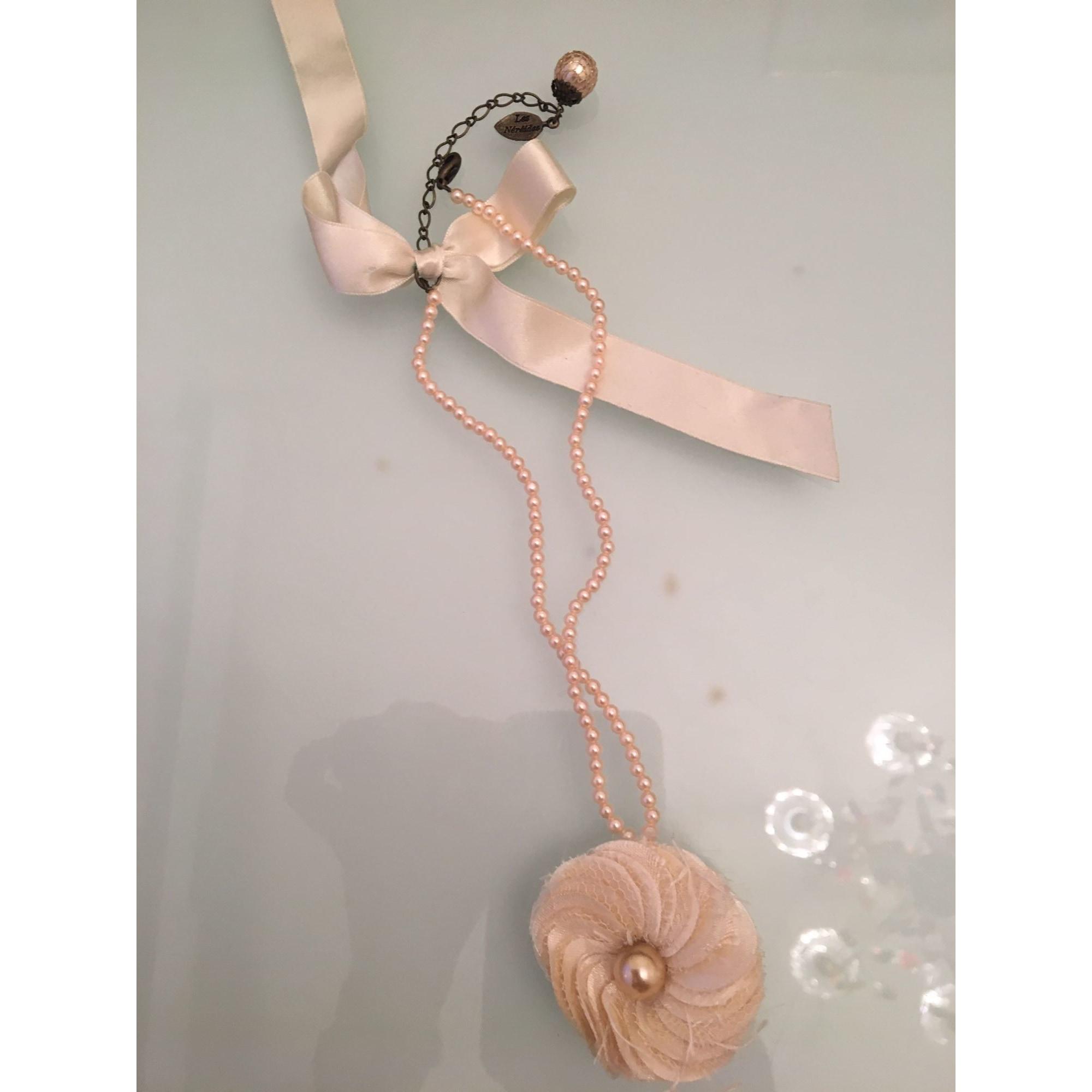 Parure bijoux LES NÉRÉIDES tissu, perles et acier blanc