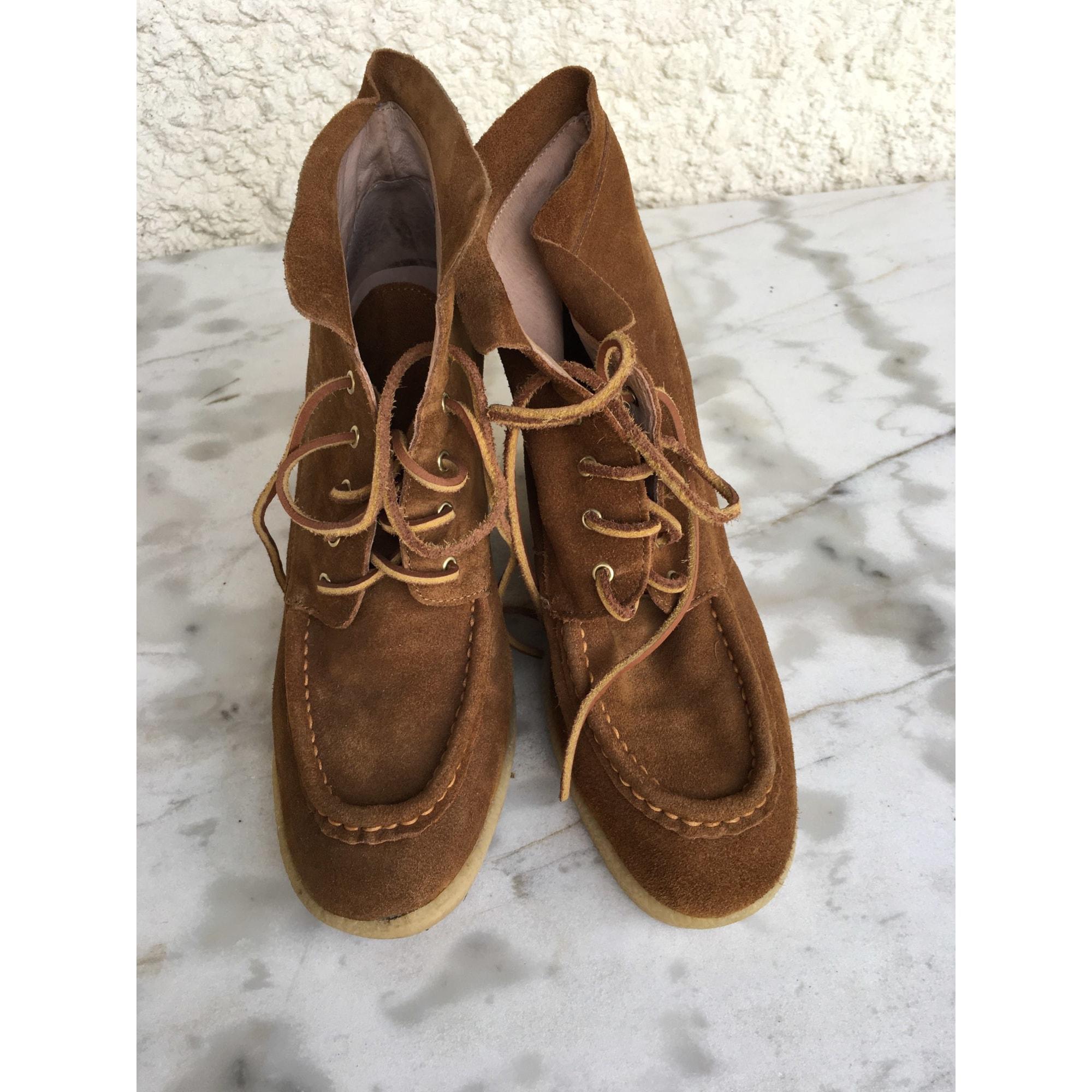 Bottines & low boots à compensés MELLOW YELLOW Beige, camel