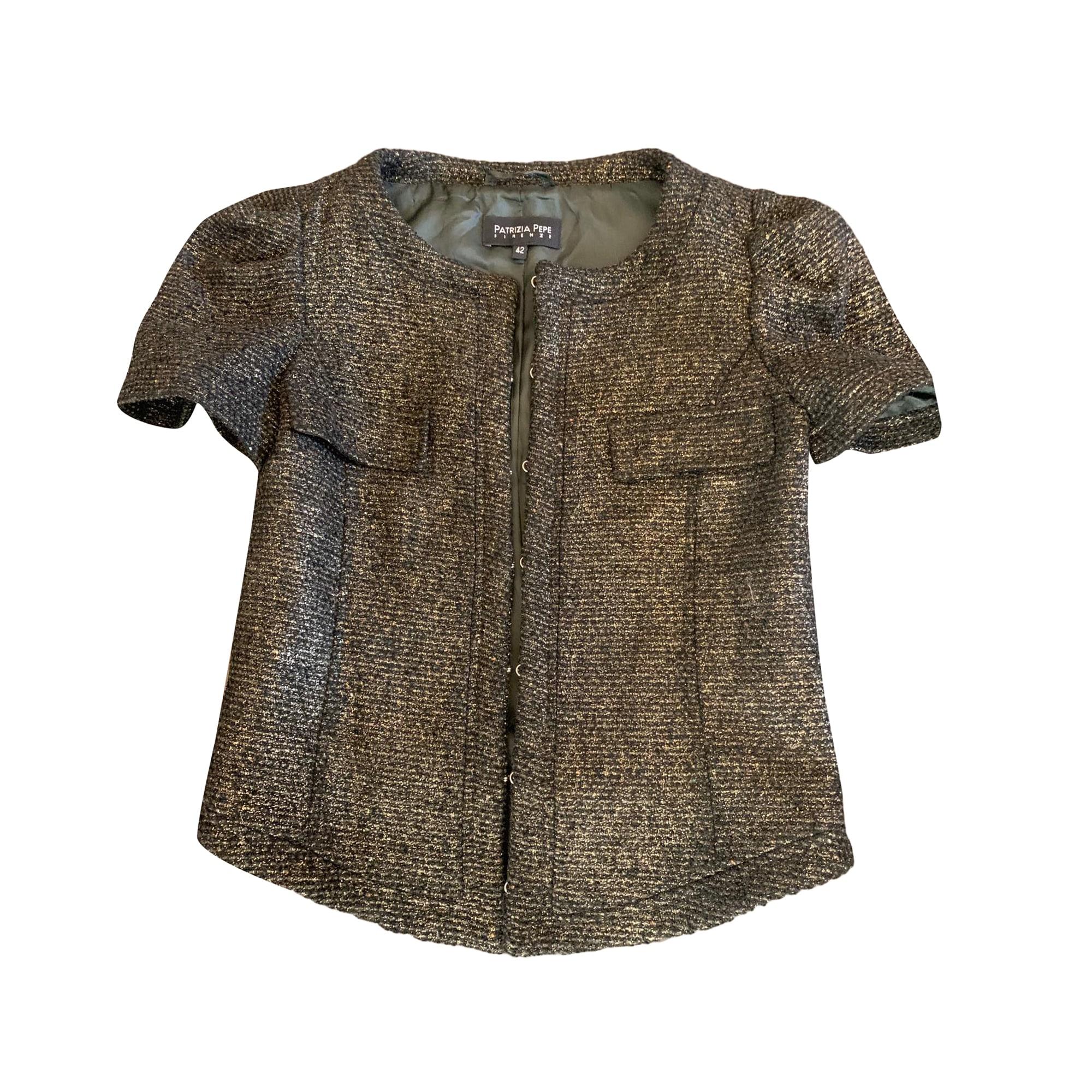 Blazer, veste tailleur PATRIZIA PEPE Doré, bronze, cuivre