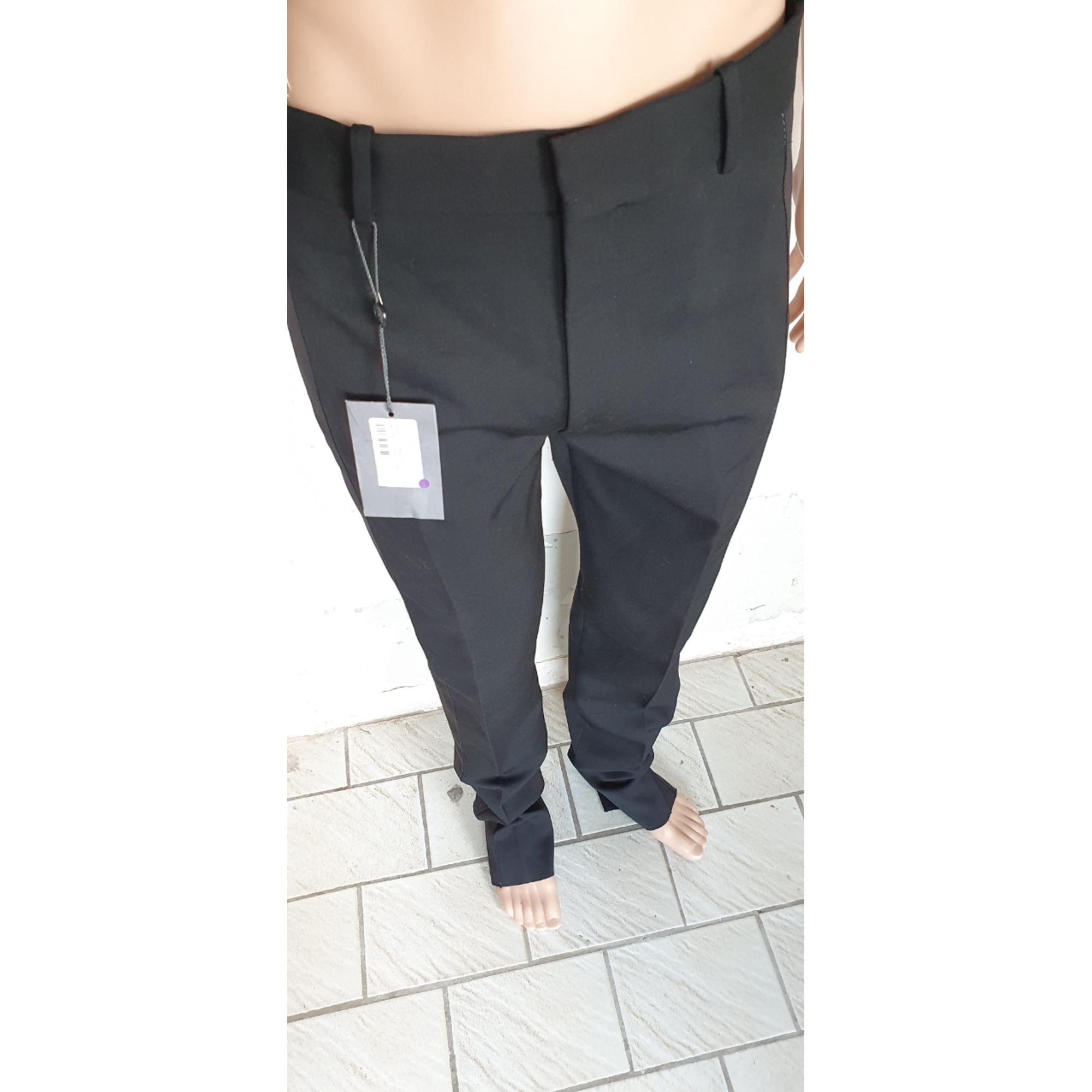 Pantalon droit ALEXANDER MCQUEEN Noir
