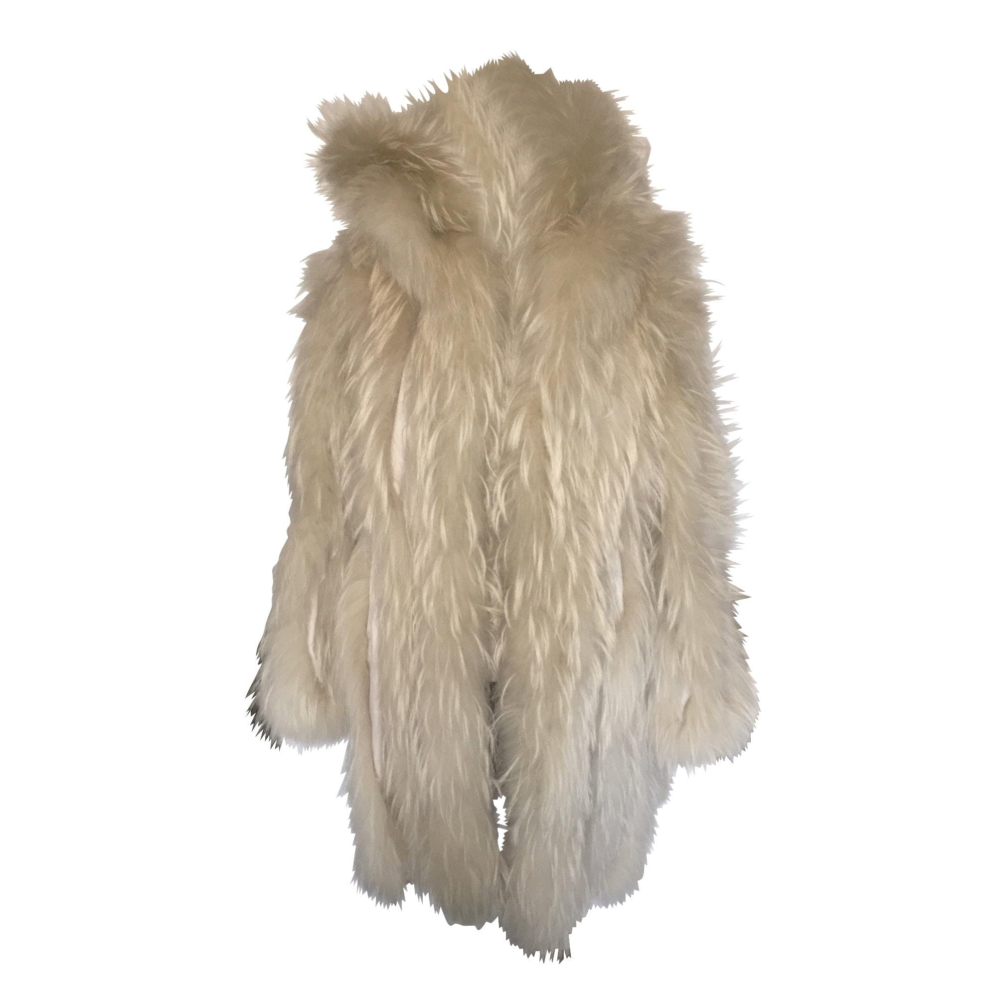 Manteau en fourrure INTUITION Blanc, blanc cassé, écru