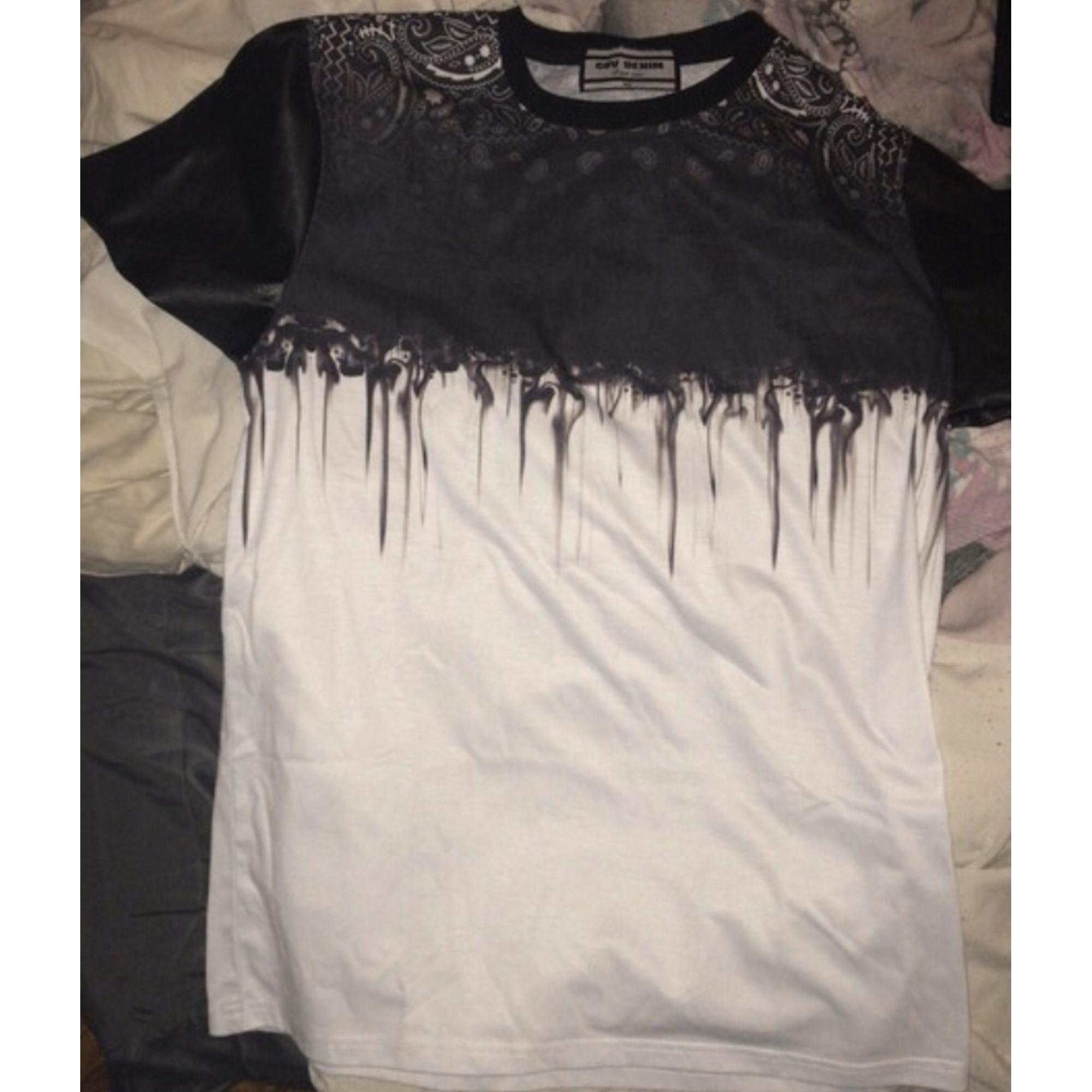 Tee-shirt GOV-DENIM Noir