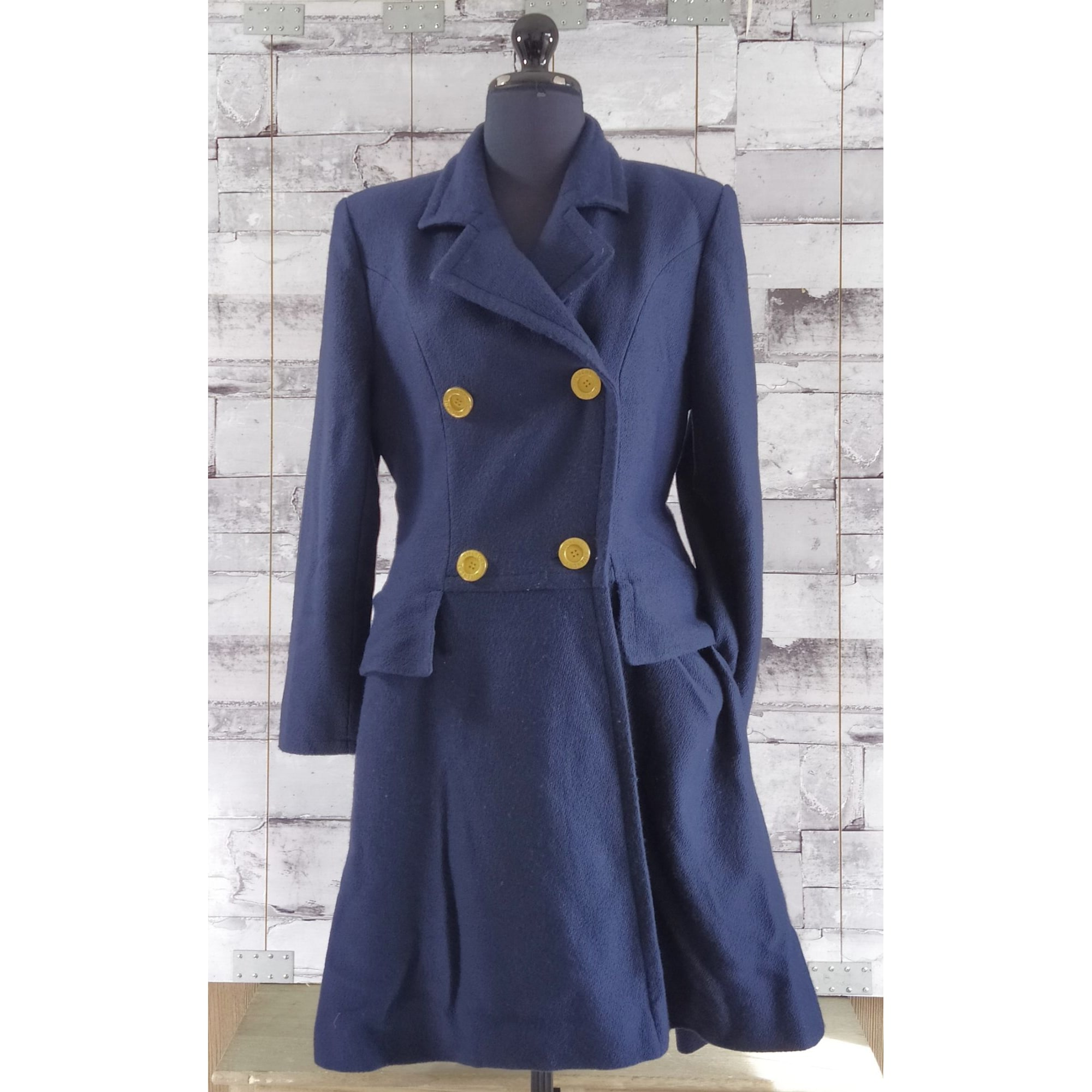 Manteau GIVENCHY Bleu, bleu marine, bleu turquoise