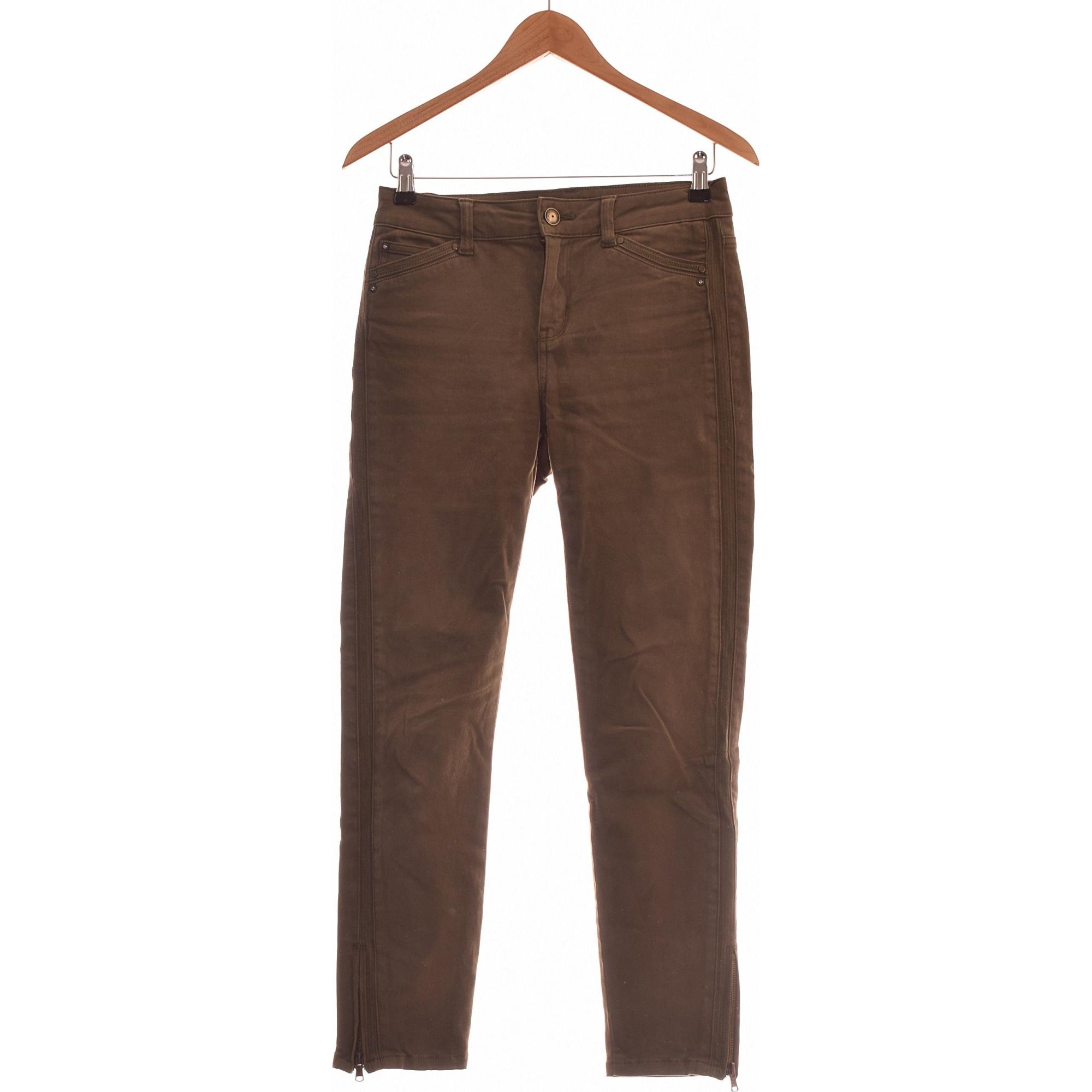 Pantalon slim, cigarette 1.2.3 Vert