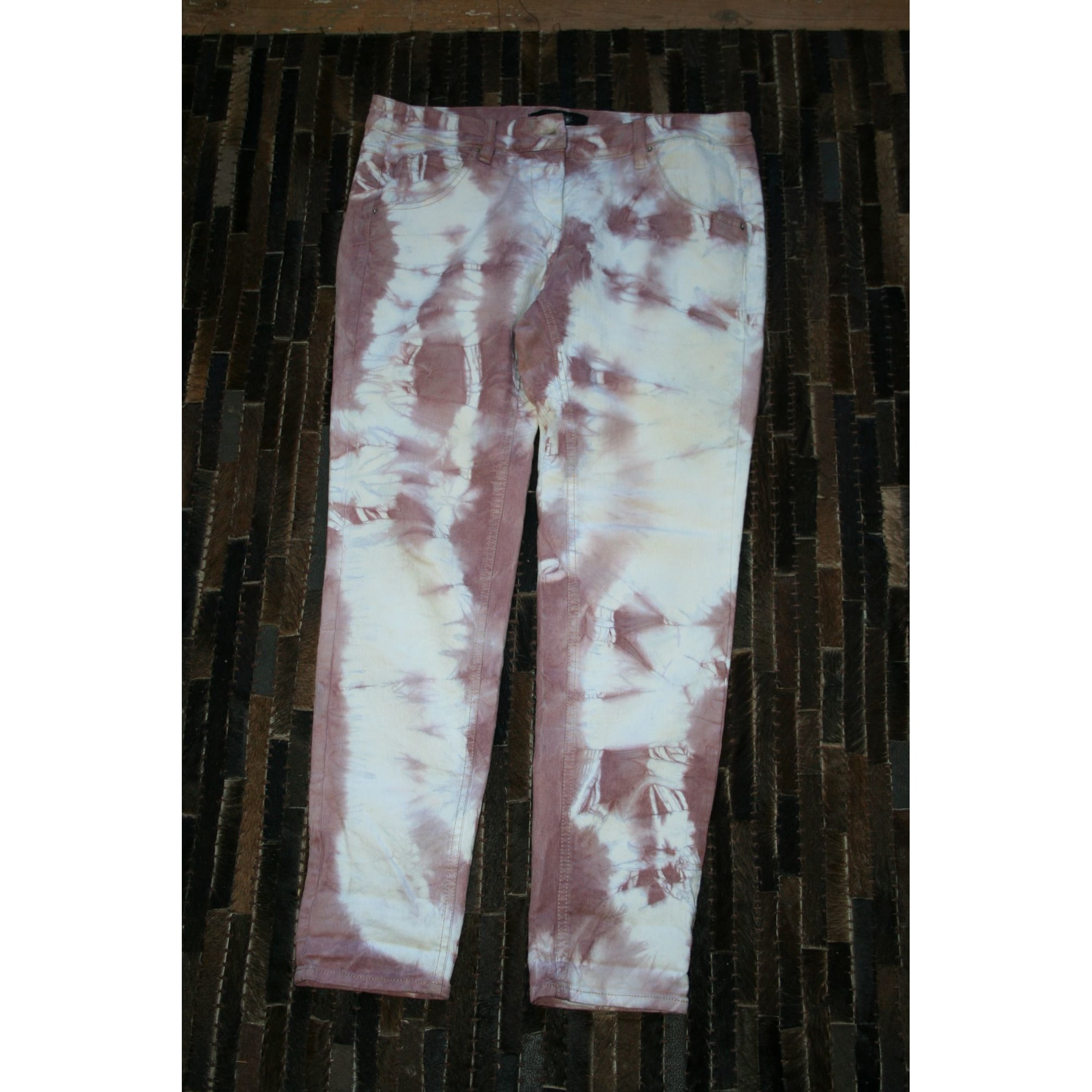 Jeans slim ISABEL MARANT Rose, fuschia, vieux rose