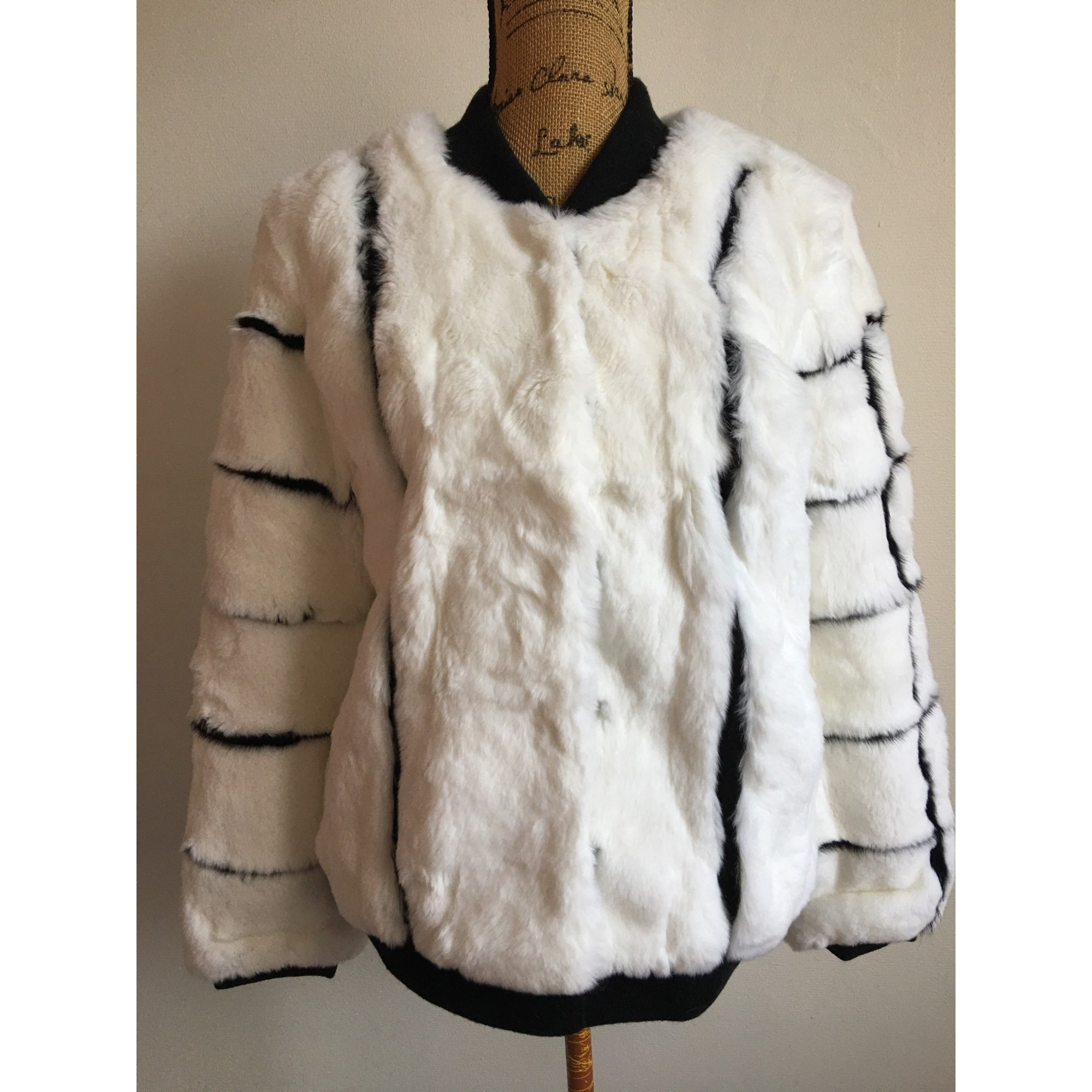 Manteau MAX & MOI Blanc, blanc cassé, écru