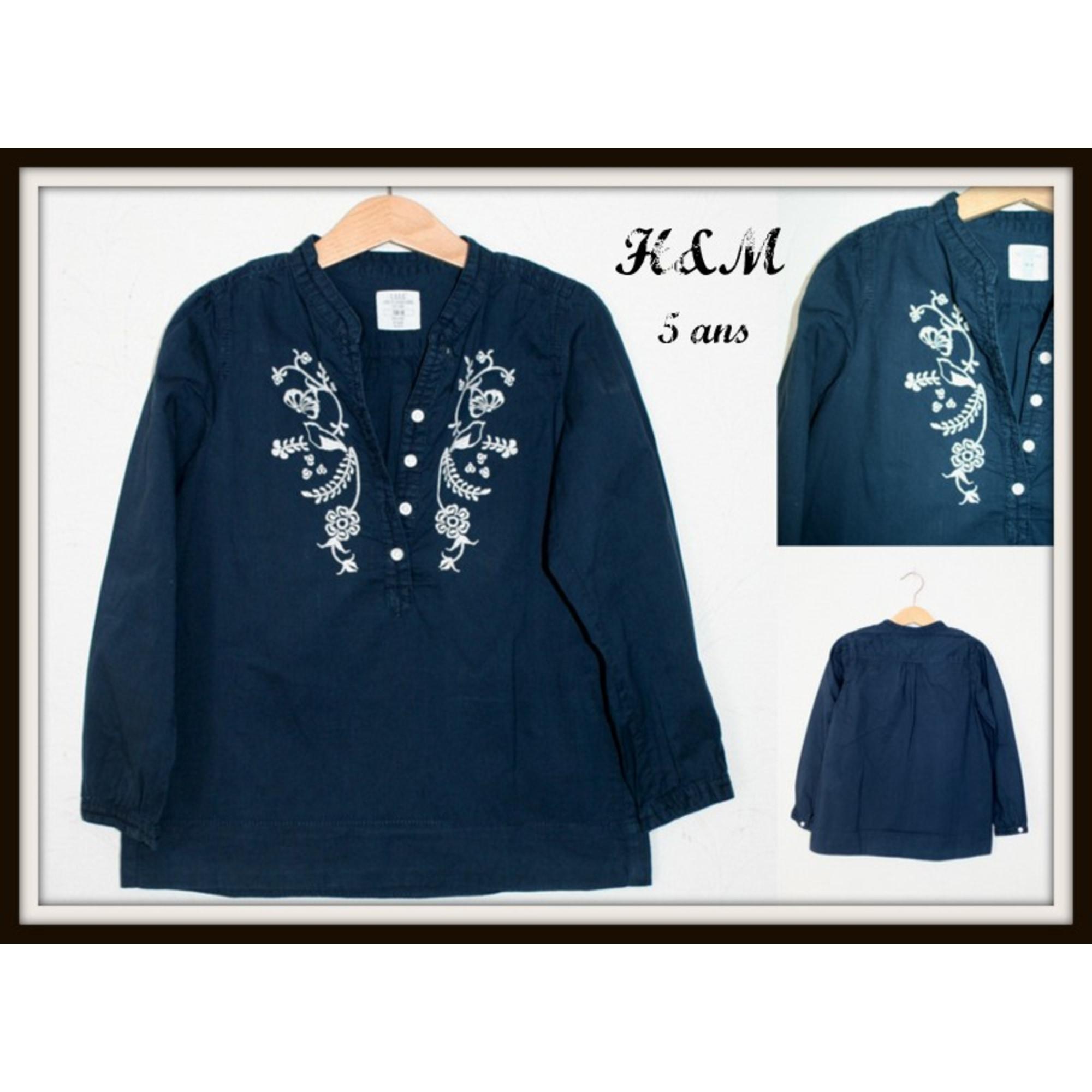 Blouse H&M Bleu, bleu marine, bleu turquoise