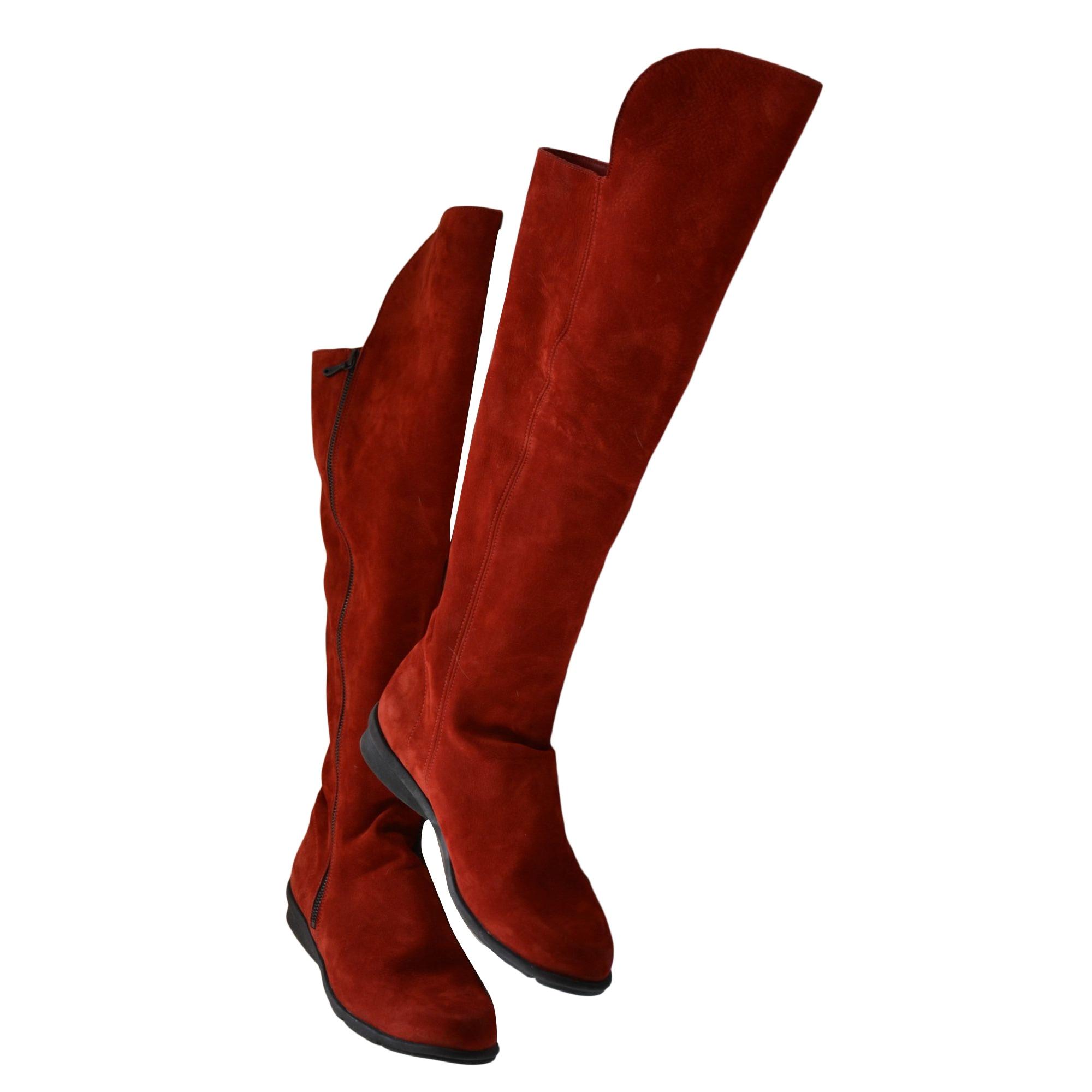 Bottes cuissards ARCHE Rouge, bordeaux