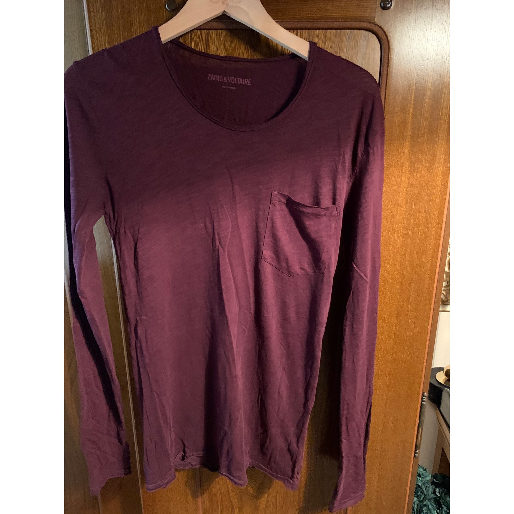 Tee-shirt ZADIG & VOLTAIRE Rouge, bordeaux