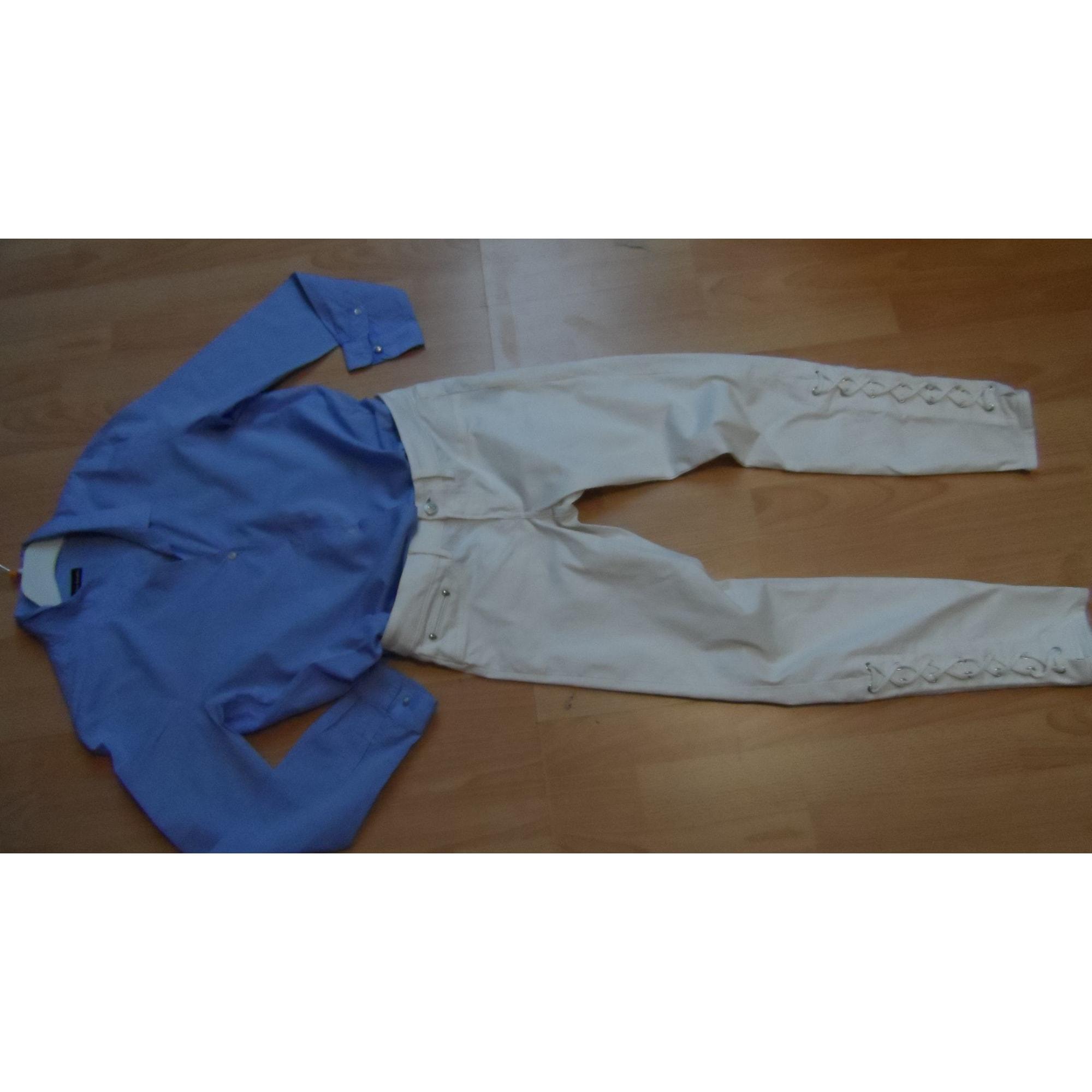 Jeans slim THE KOOPLES Blanc, blanc cassé, écru