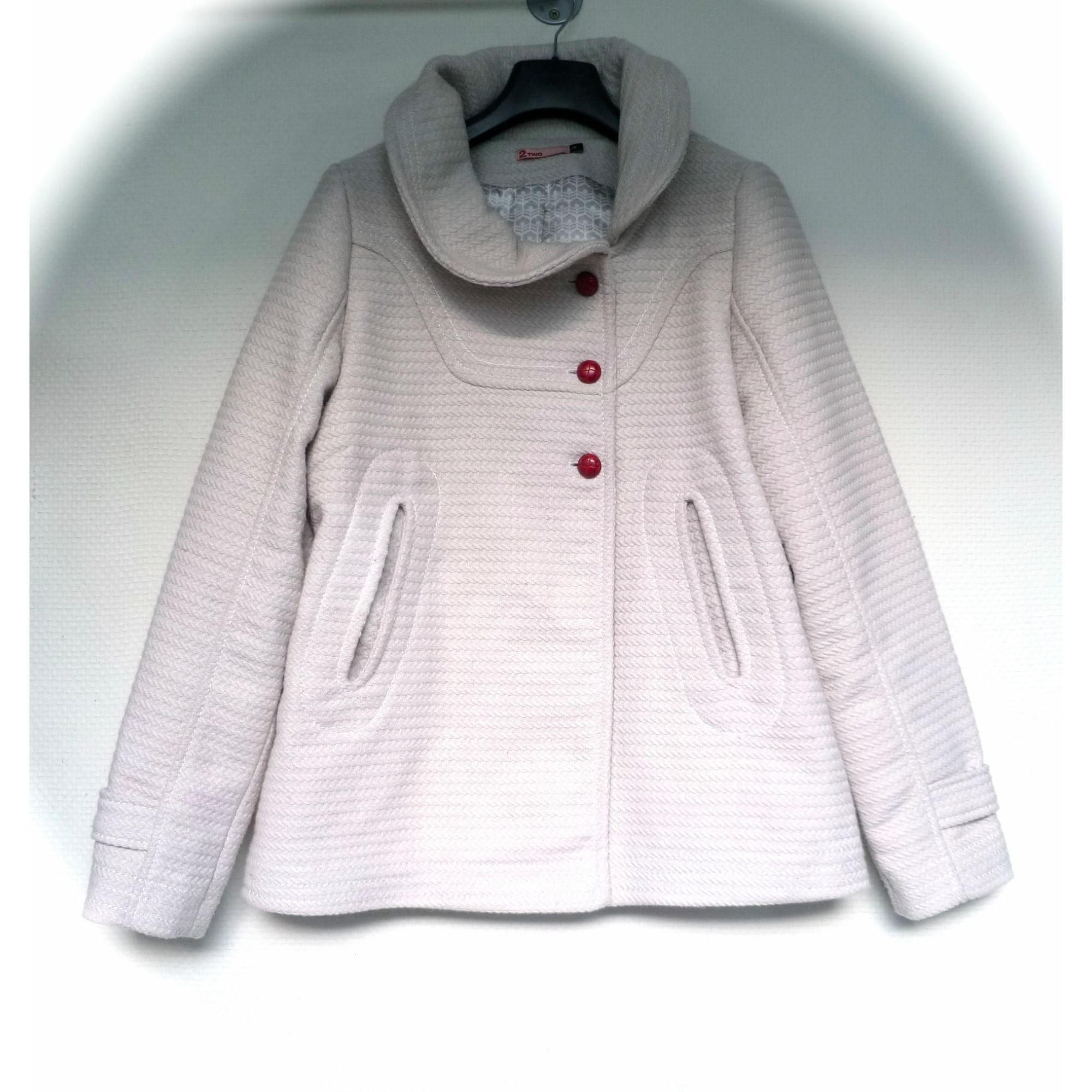 Manteau 2 TWO Blanc, blanc cassé, écru