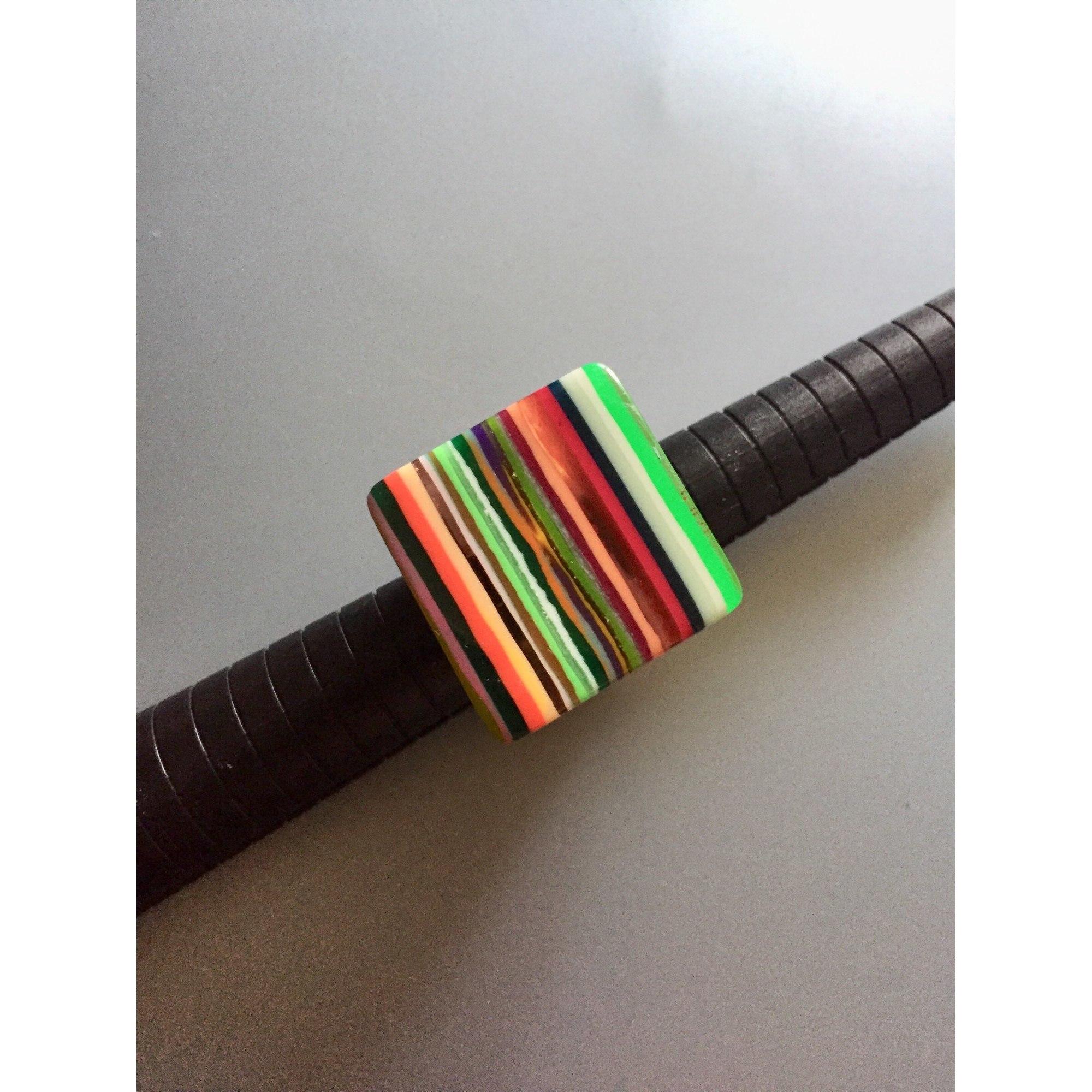 Bague SOBRAL résine multicolore 55