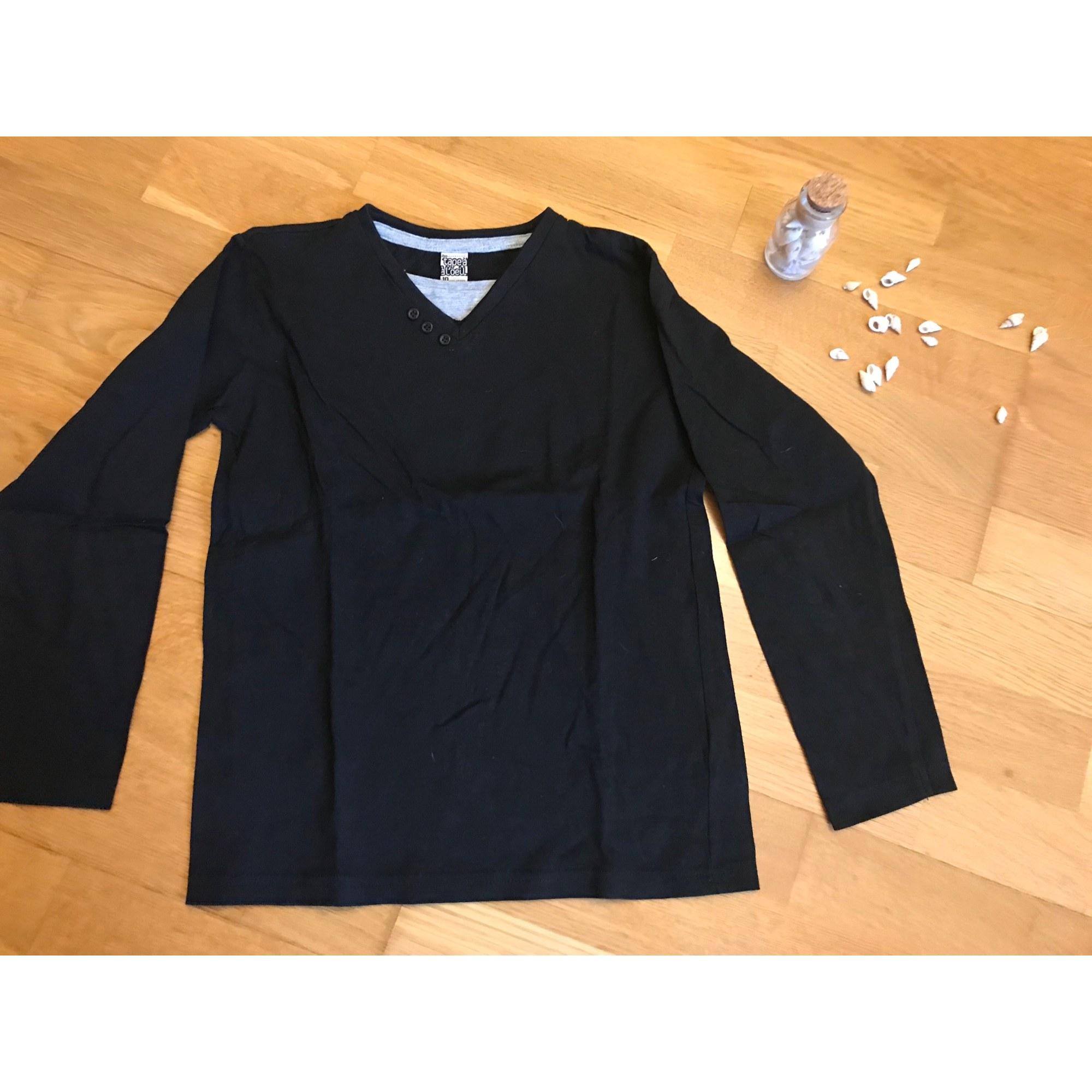 Tee-shirt TAPE À L'OEIL Noir