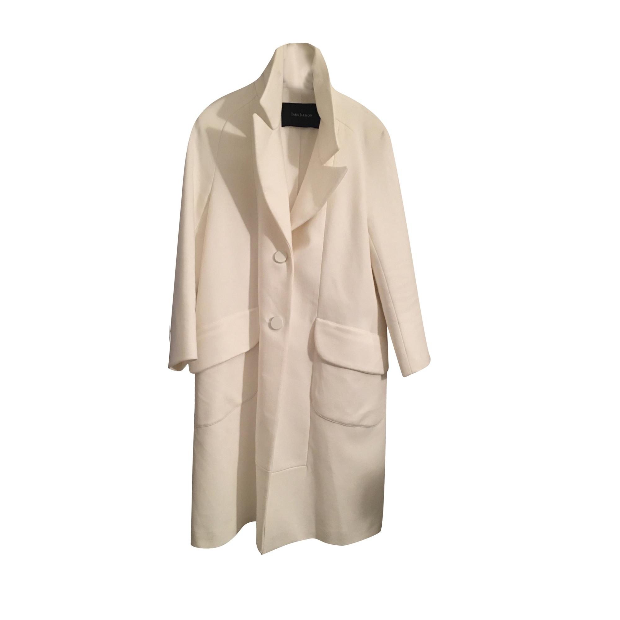 Manteau TARA JARMON Blanc, blanc cassé, écru