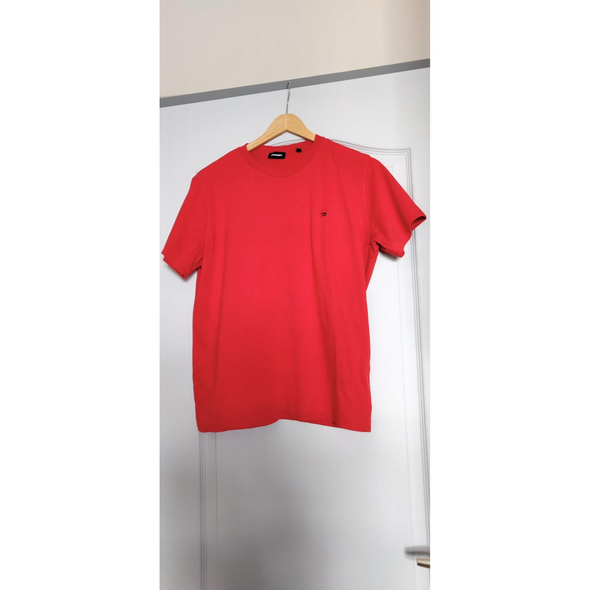 Tee-shirt DIESEL Rouge, bordeaux