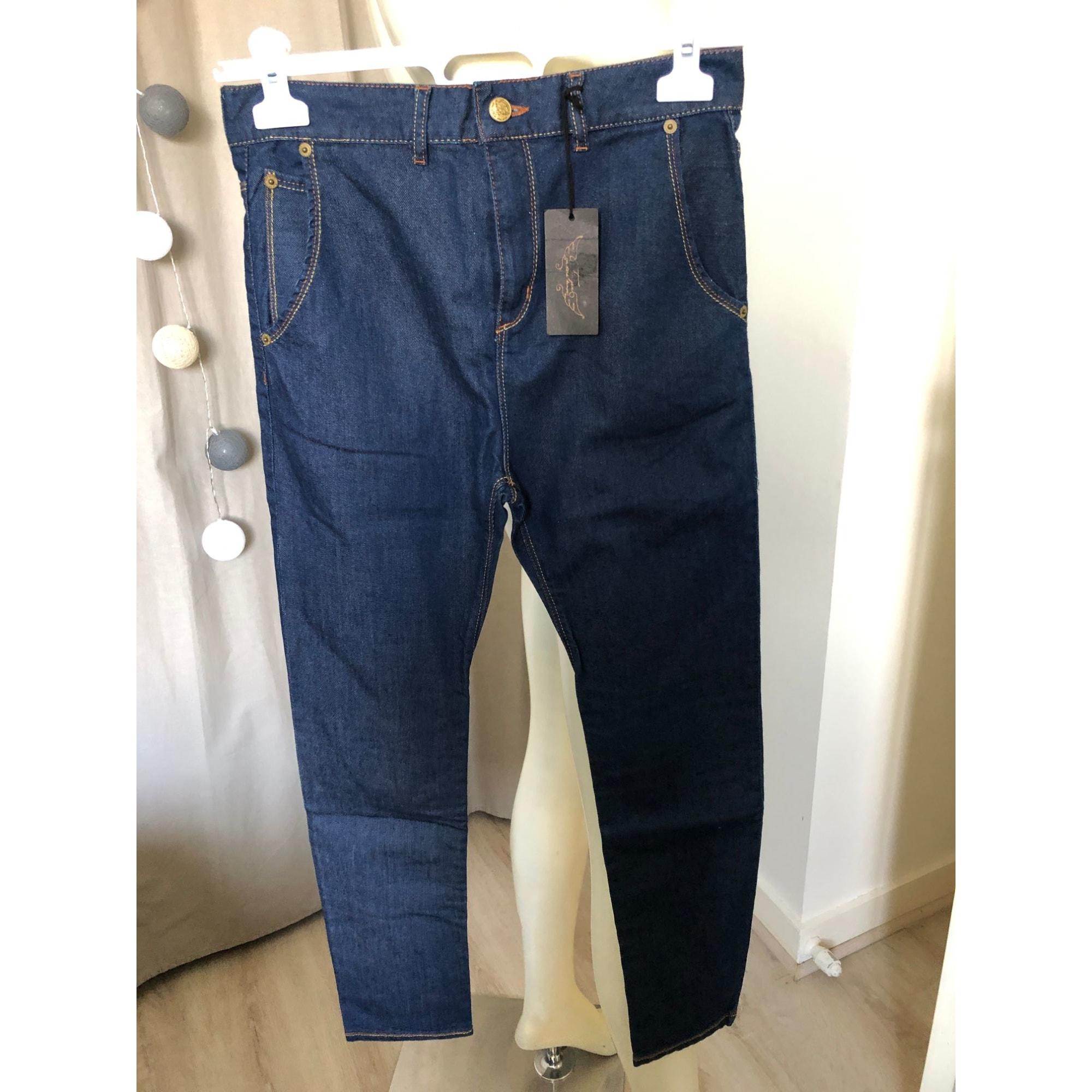 Pantalon FINGER IN THE NOSE Bleu, bleu marine, bleu turquoise